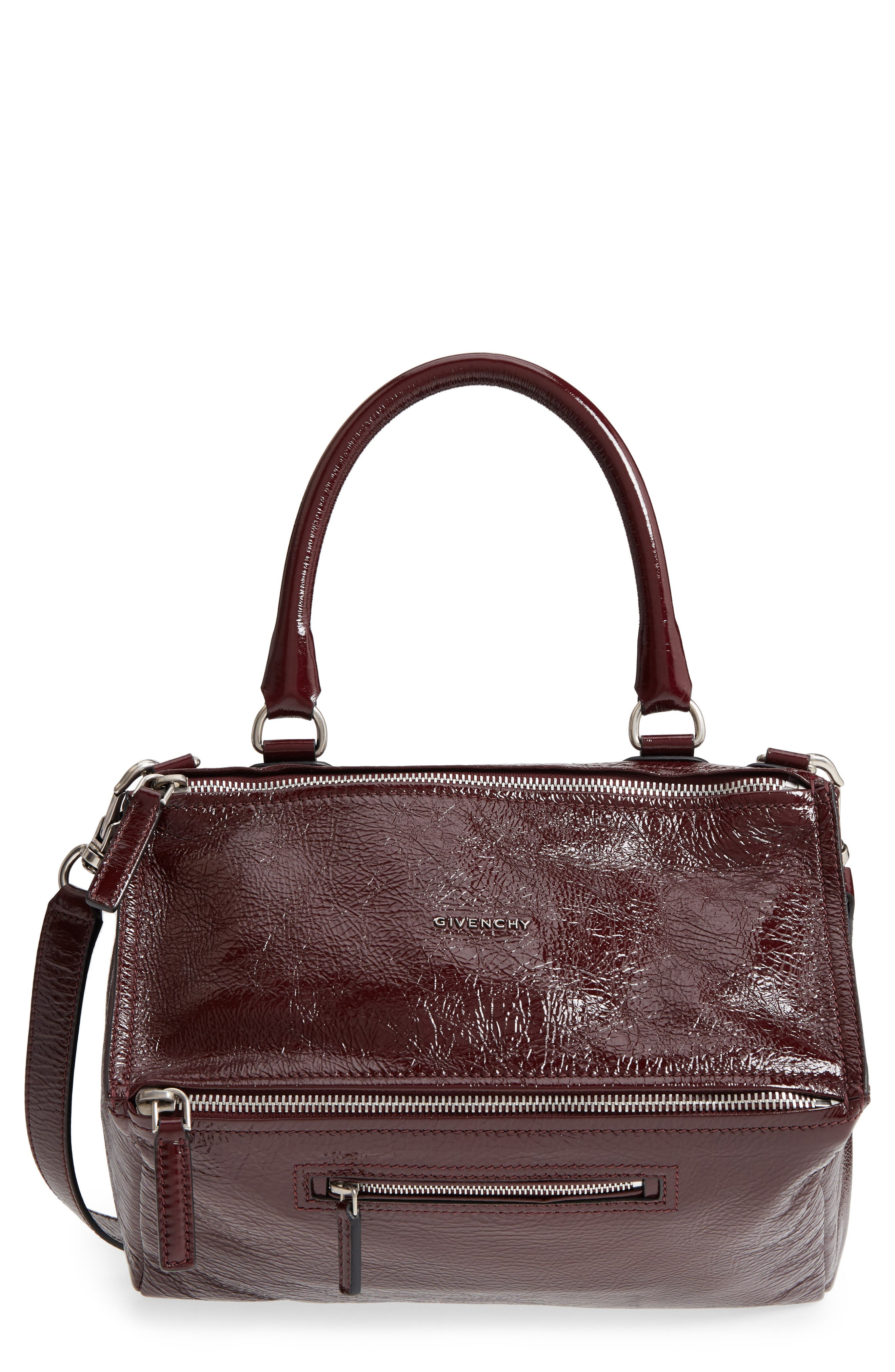 Givenchy Medium Pandora Creased Patent Leather Shoulder Bag