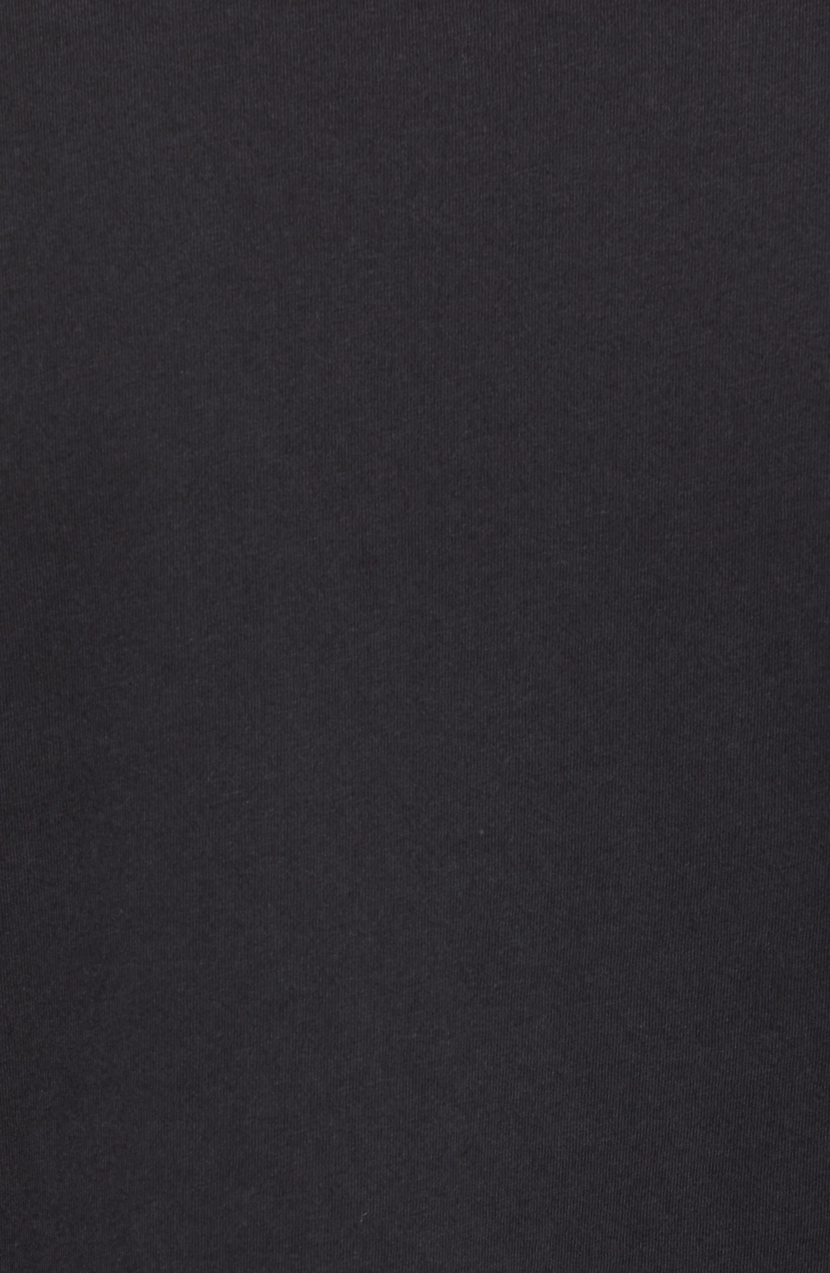 Gold Foil Logo T-Shirt,                             Alternate thumbnail 5, color,                             True Black