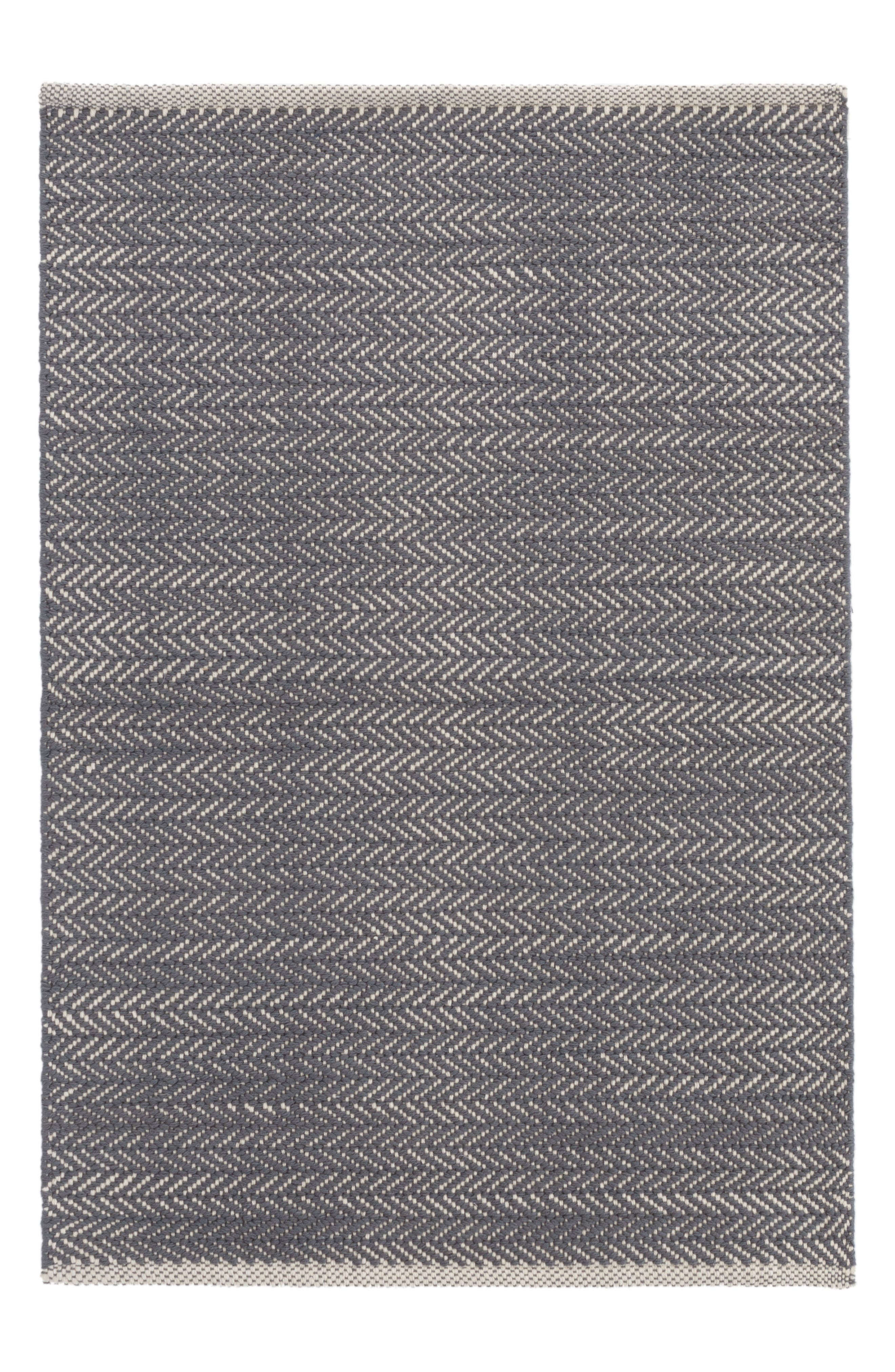 Herringbone Rug,                         Main,                         color, Blue
