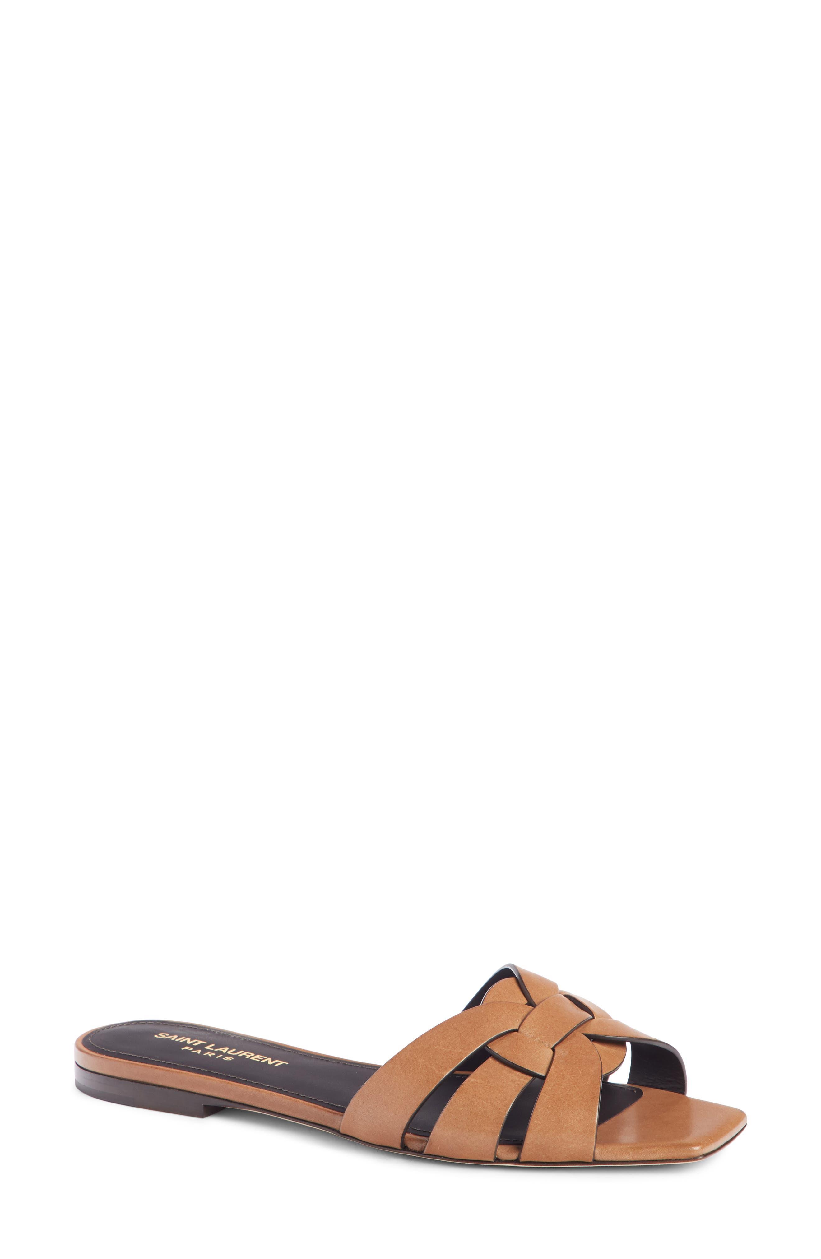 Tribute Slide Sandal,                         Main,                         color, Safari Brown