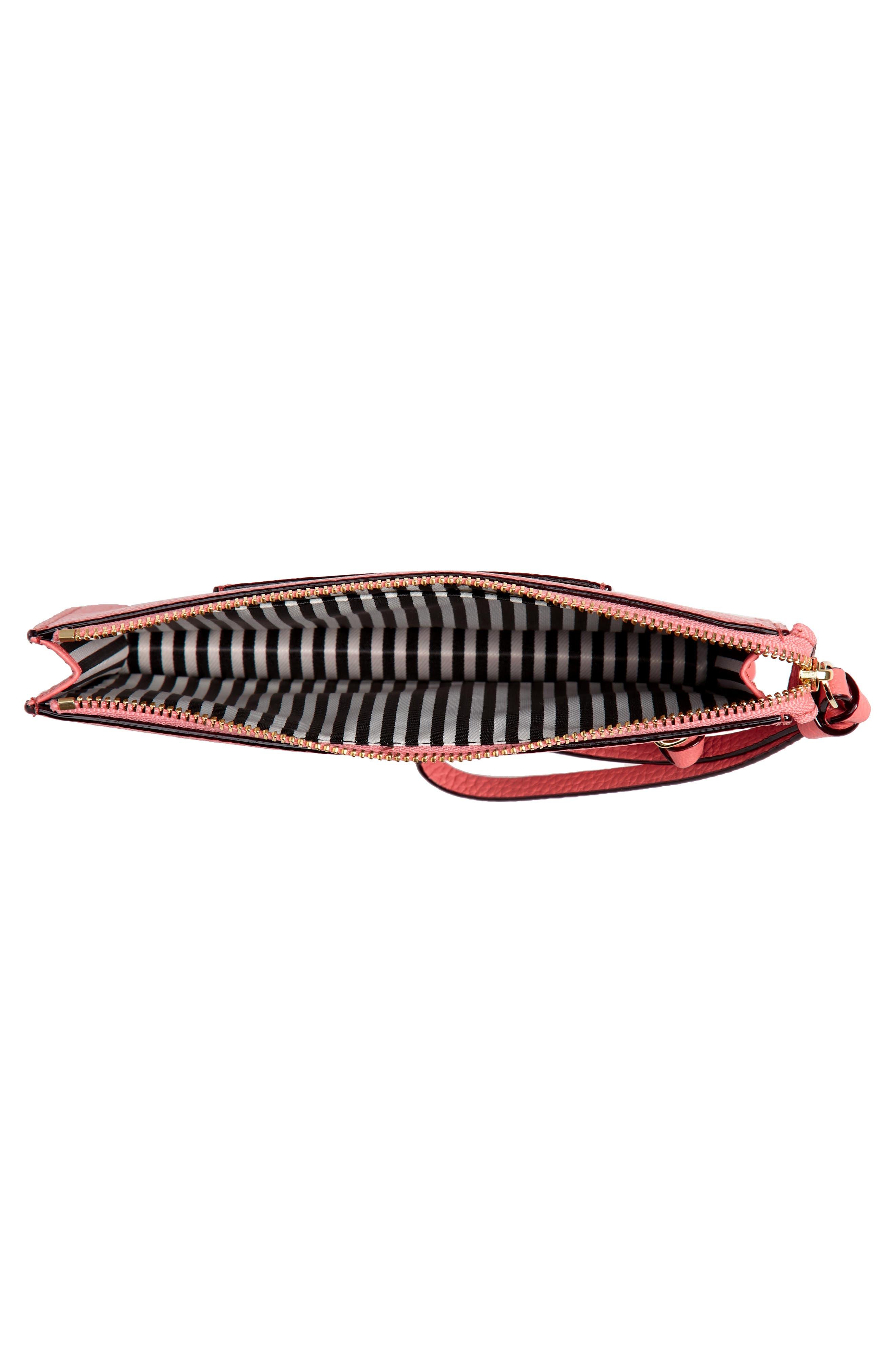jackson street - lancey leather wristlet,                             Alternate thumbnail 4, color,                             Coral Pebble