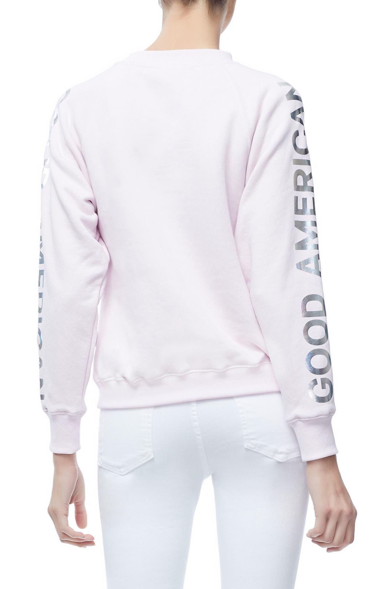 Crewneck Sweatshirt,                             Alternate thumbnail 2, color,                             Pink