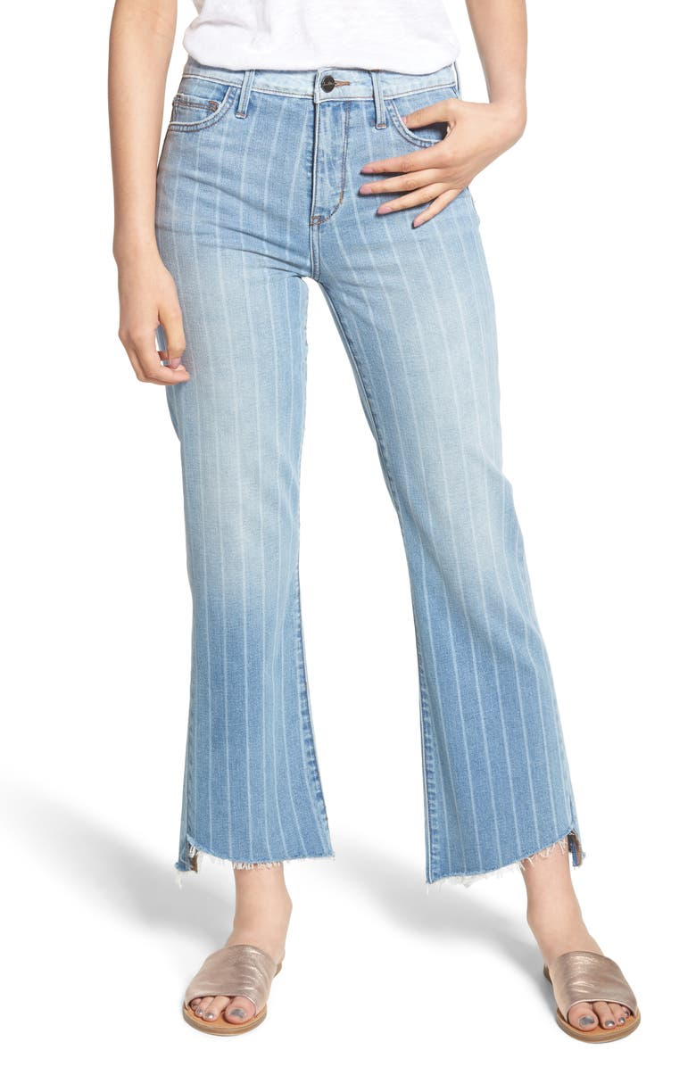 The Chelsea Striped Wide Leg Crop Jeans