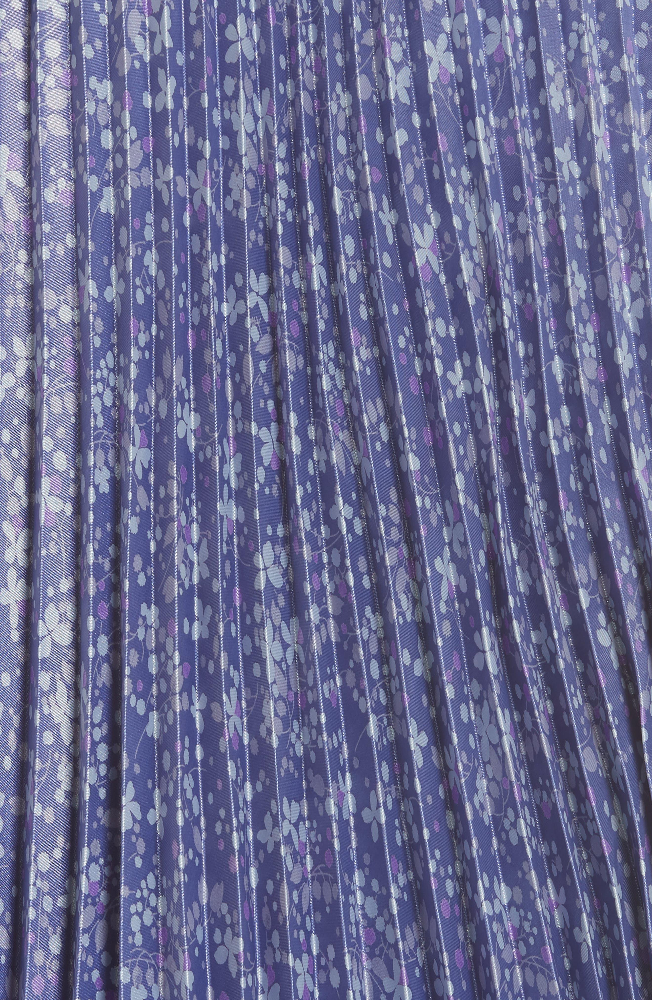 Floral Pleat Skirt,                             Alternate thumbnail 3, color,                             Blue
