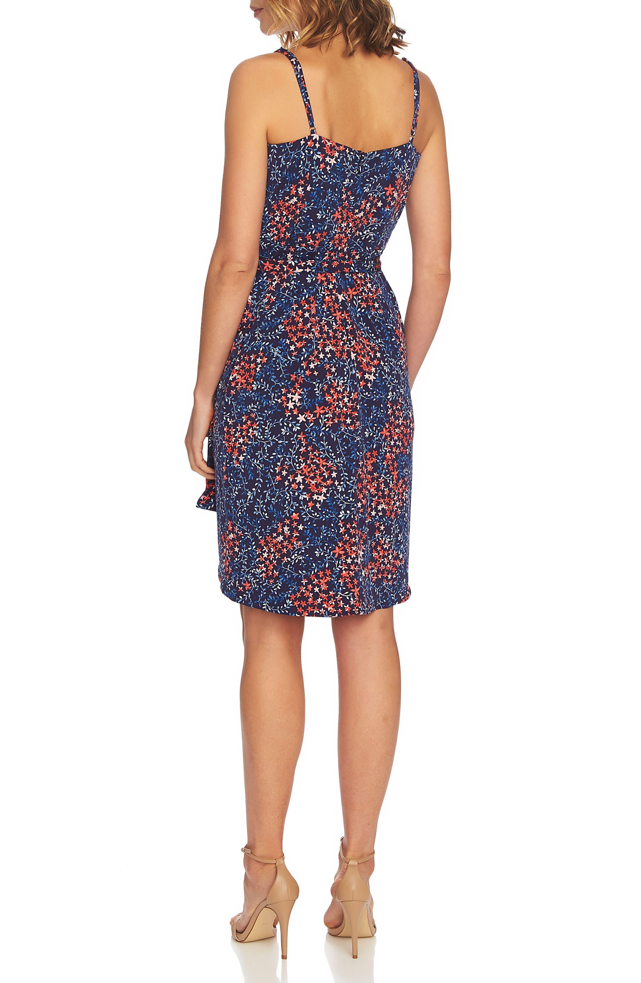Corinne Floral Wrap Dress,                             Alternate thumbnail 2, color,                             Mosaic Tile