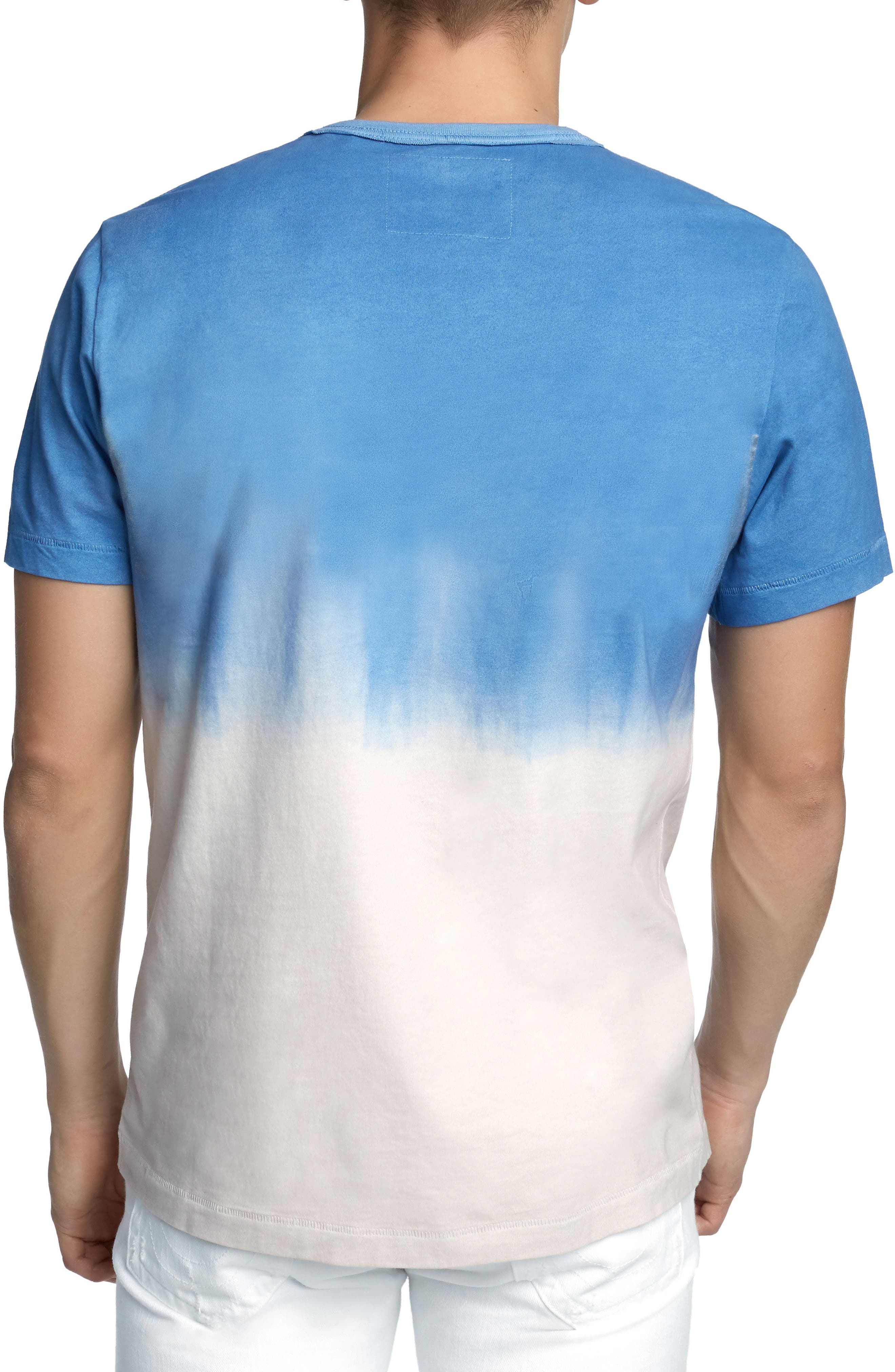 Metallic Dip Dye T-Shirt,                             Alternate thumbnail 2, color,                             Retro Blue