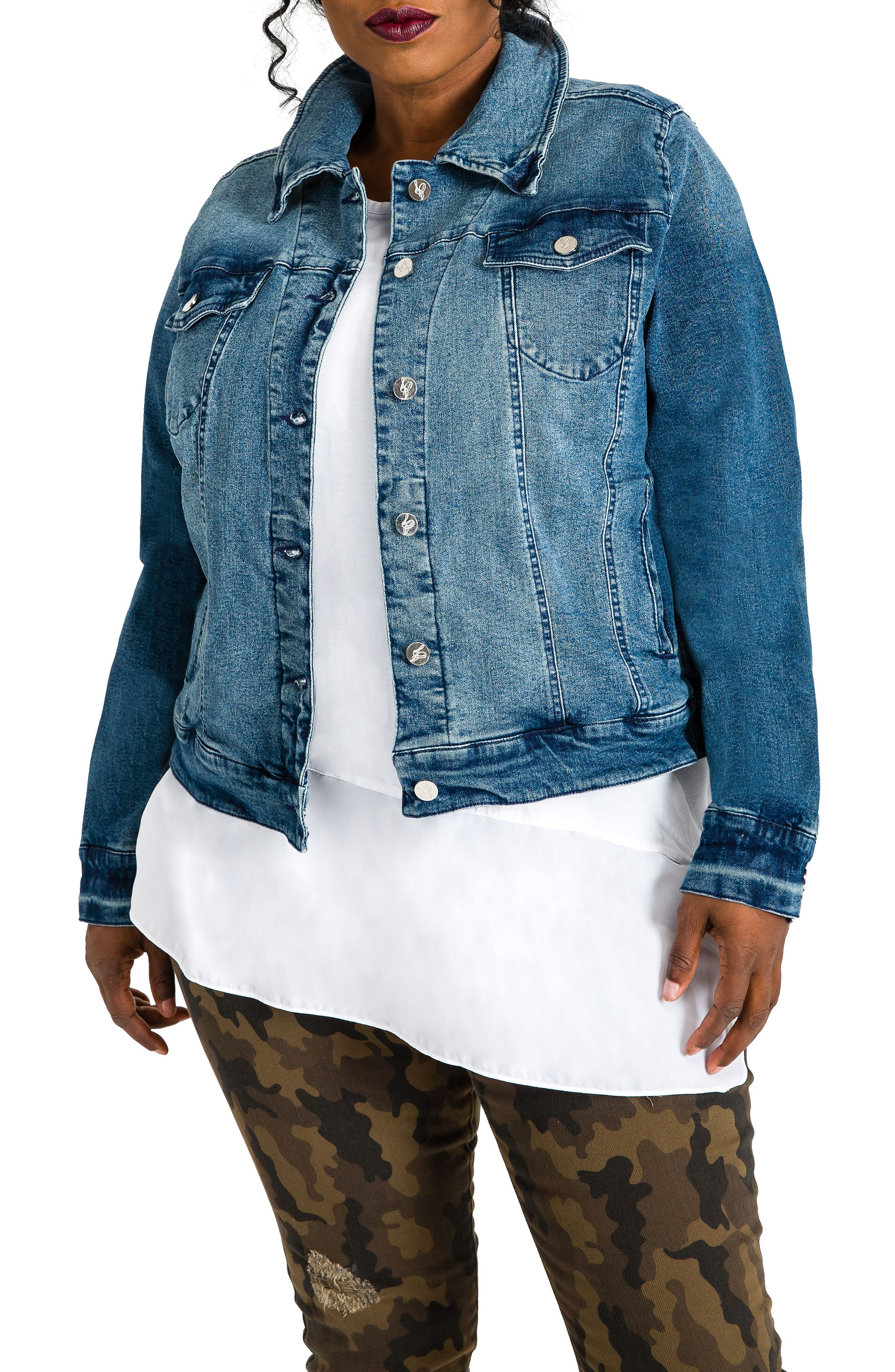 Poetic Justice Natalie Denim Jacket (Plus Size)