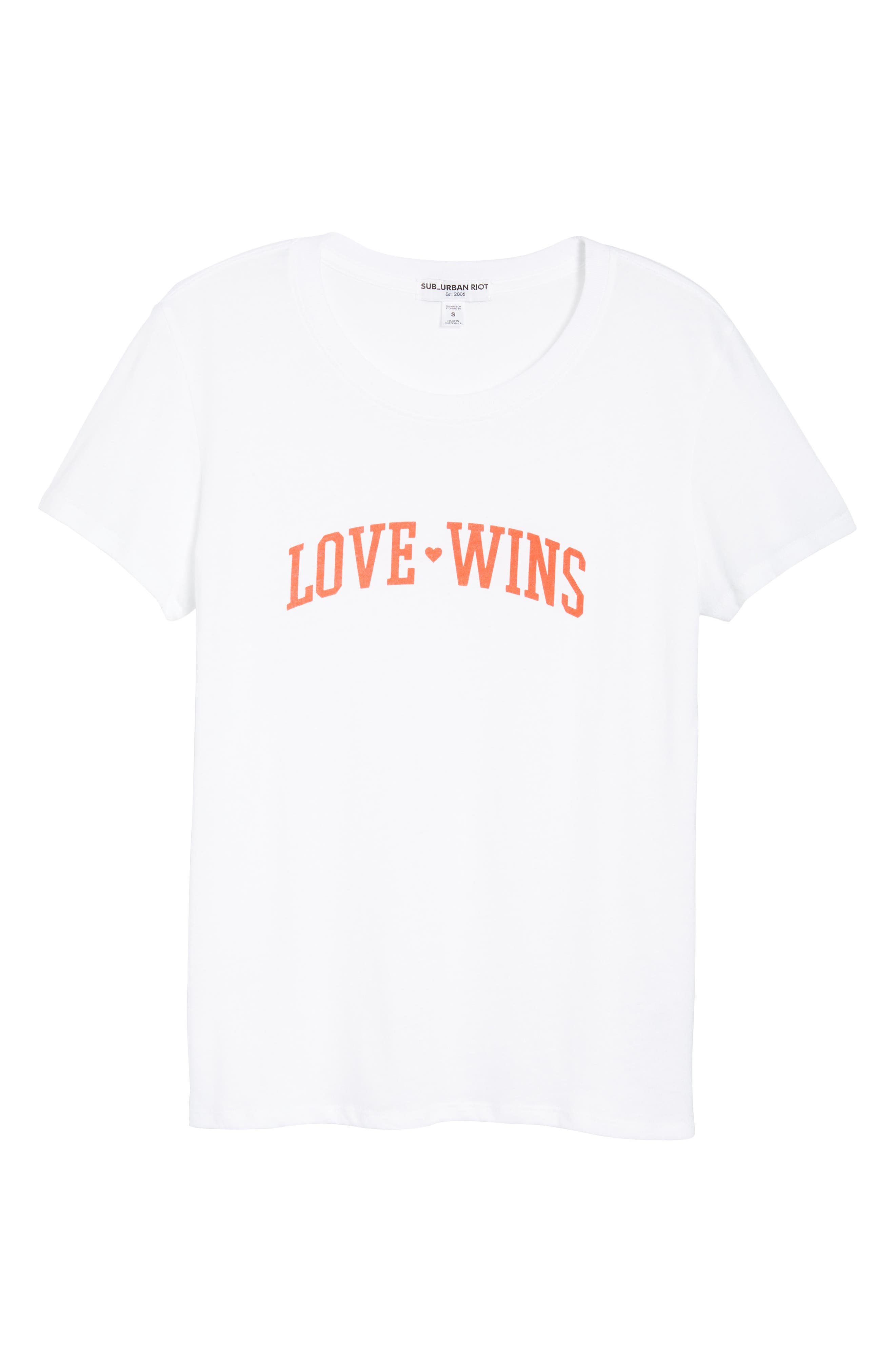 Love Wins Slouched Tee,                             Alternate thumbnail 6, color,                             White