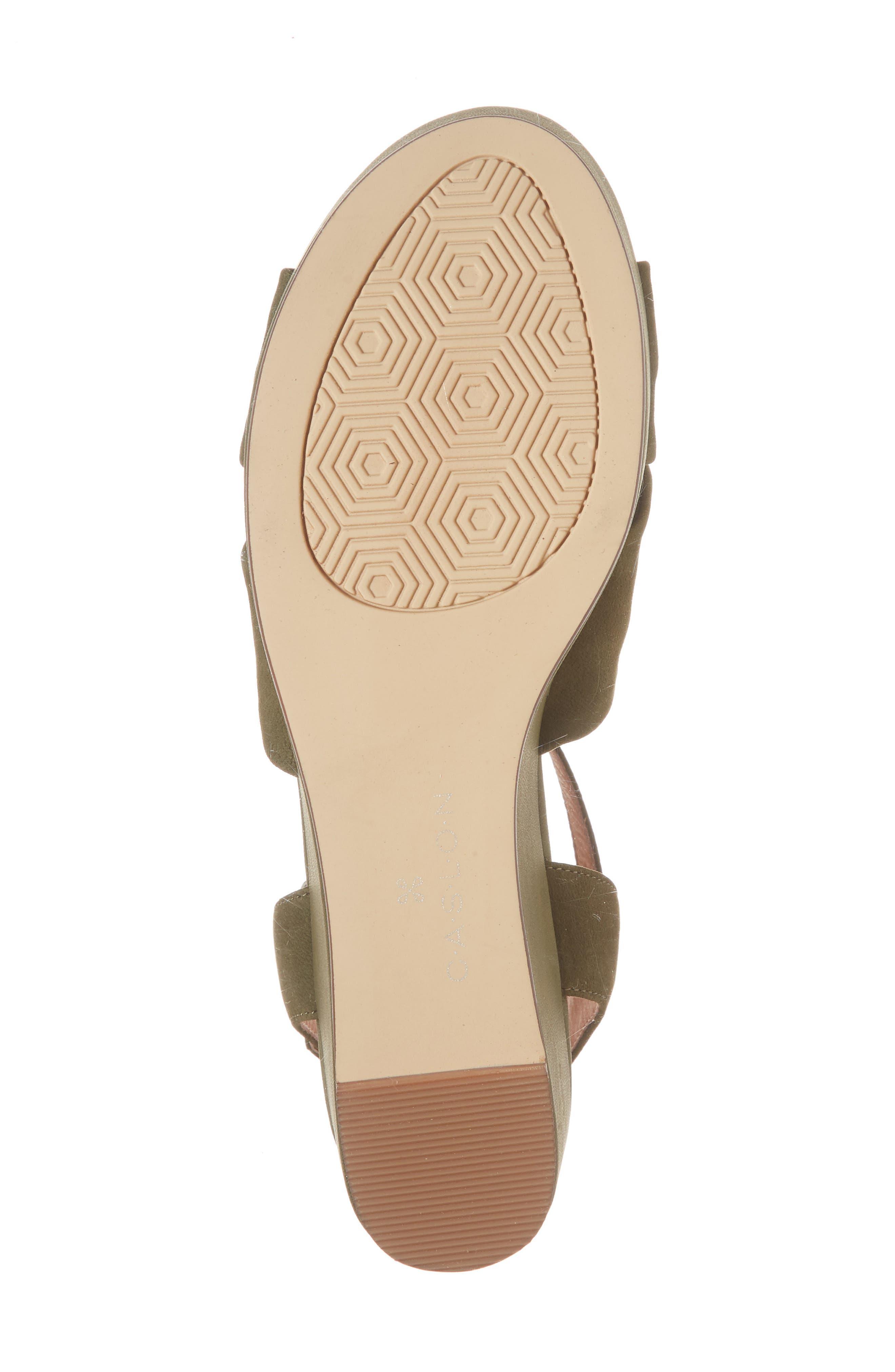 Ryder Platform Sandal,                             Alternate thumbnail 6, color,                             Olive Nubuck