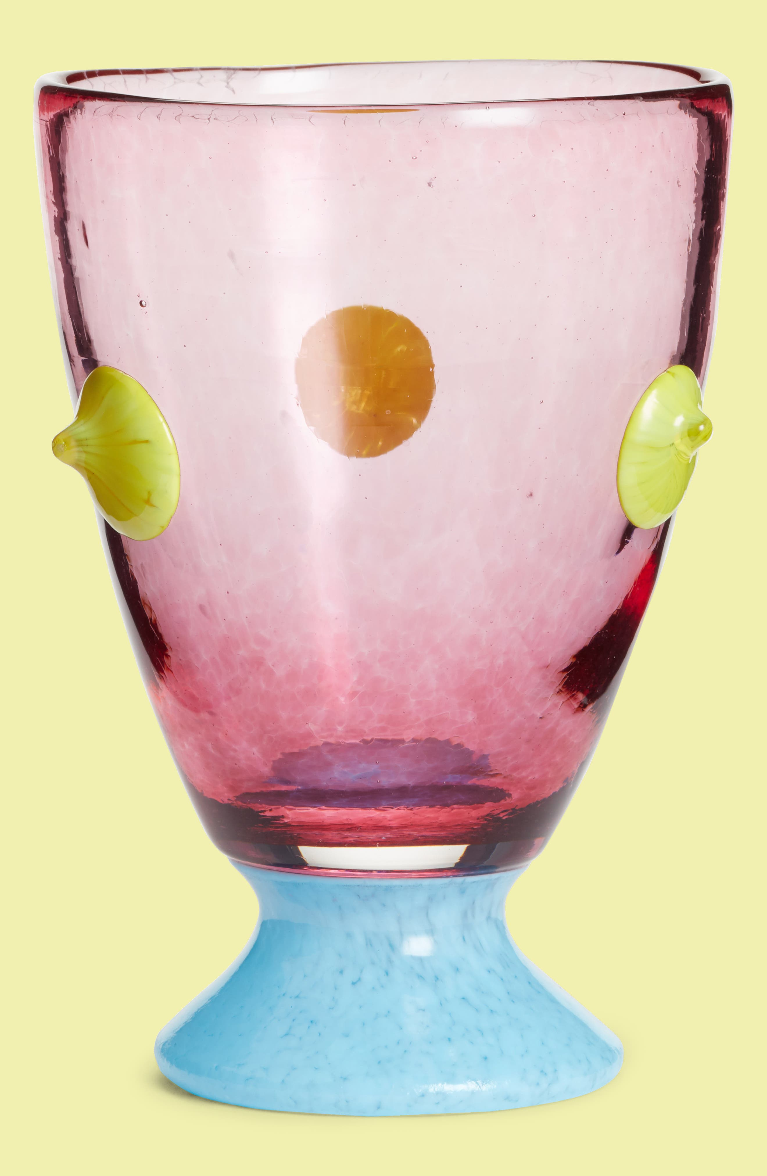 Asp & Hand Big Sweetie Pretty Pink Footed Glass,                         Main,                         color, Pretty Pink
