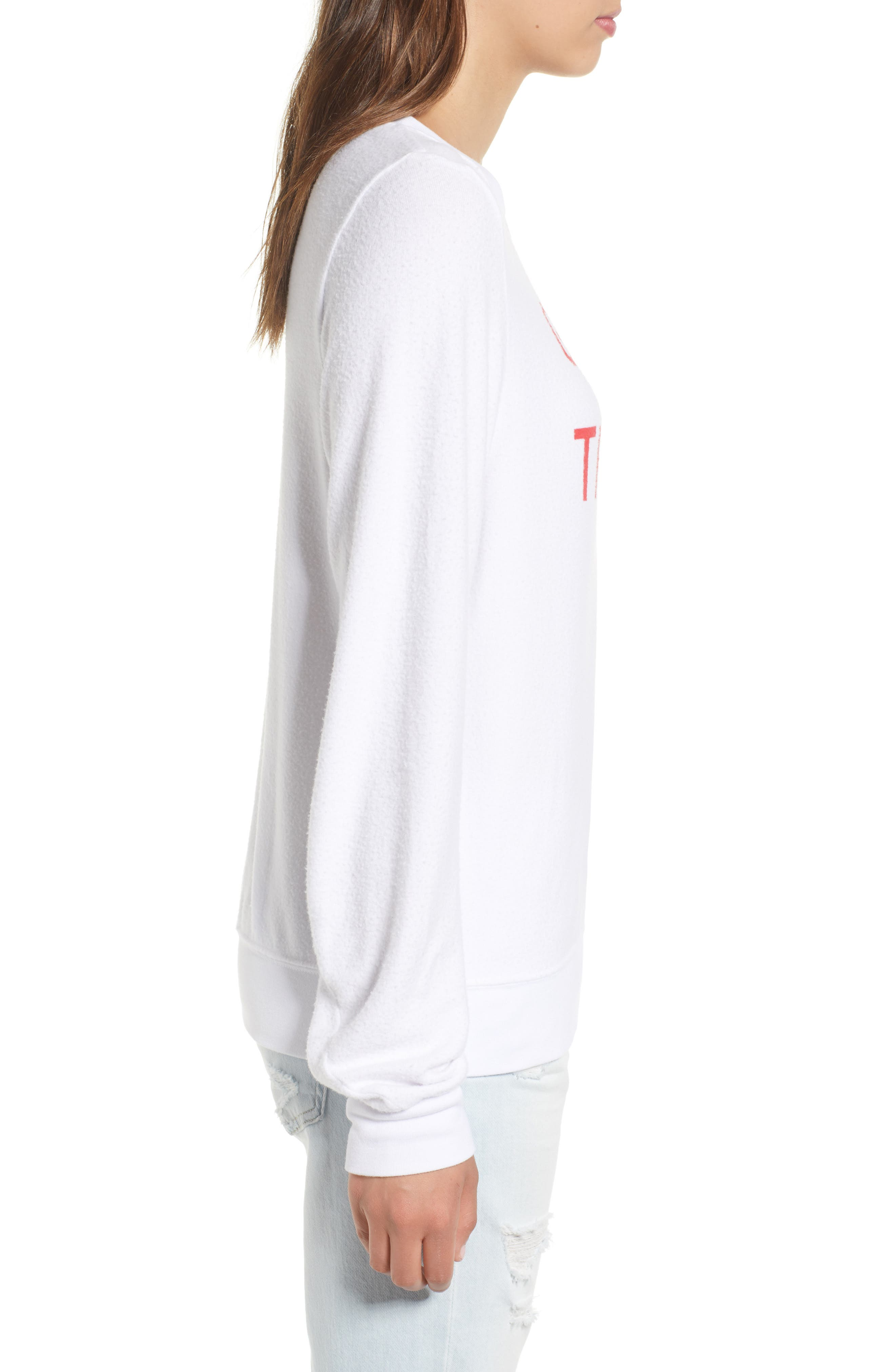 Globetrotter Baggy Beach Pullover,                             Alternate thumbnail 3, color,                             Clean White