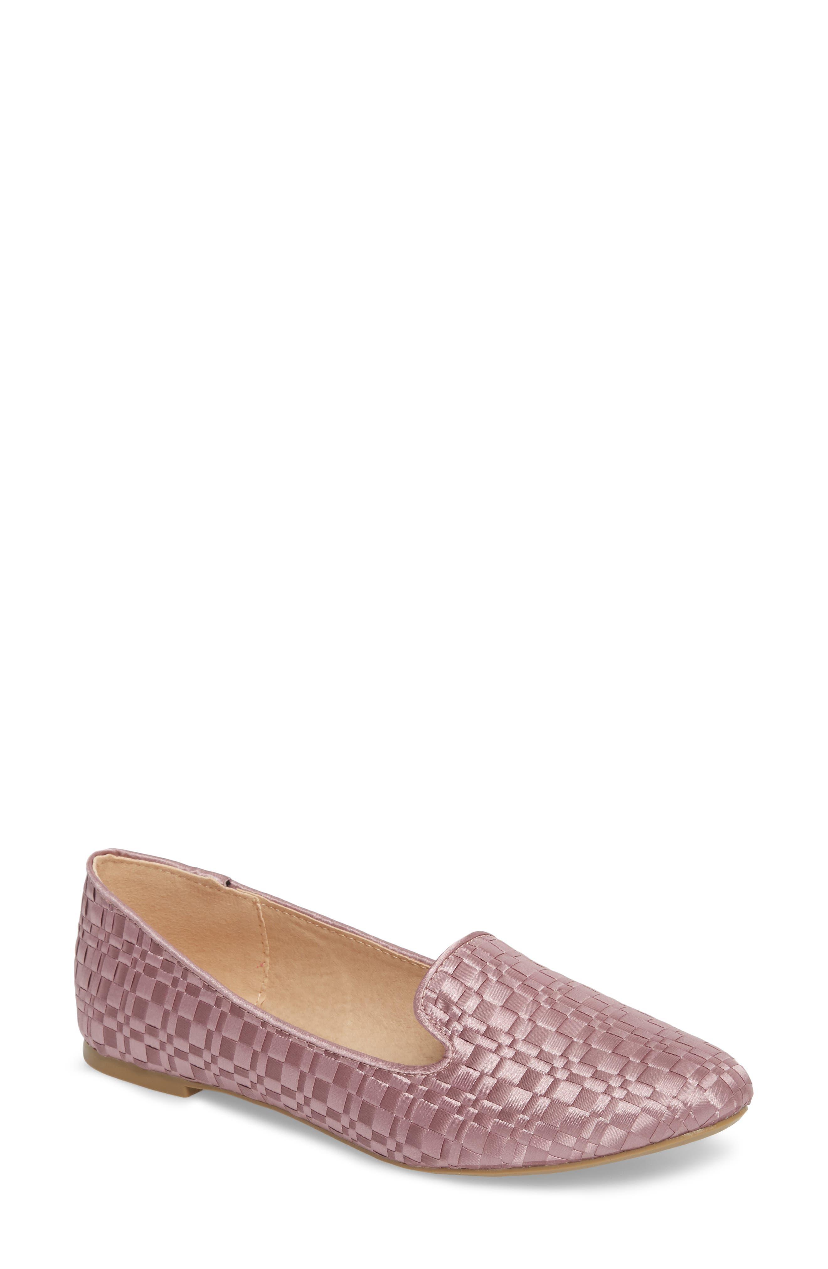 Sasha Textured Woven Loafer,                             Main thumbnail 1, color,                             Pink
