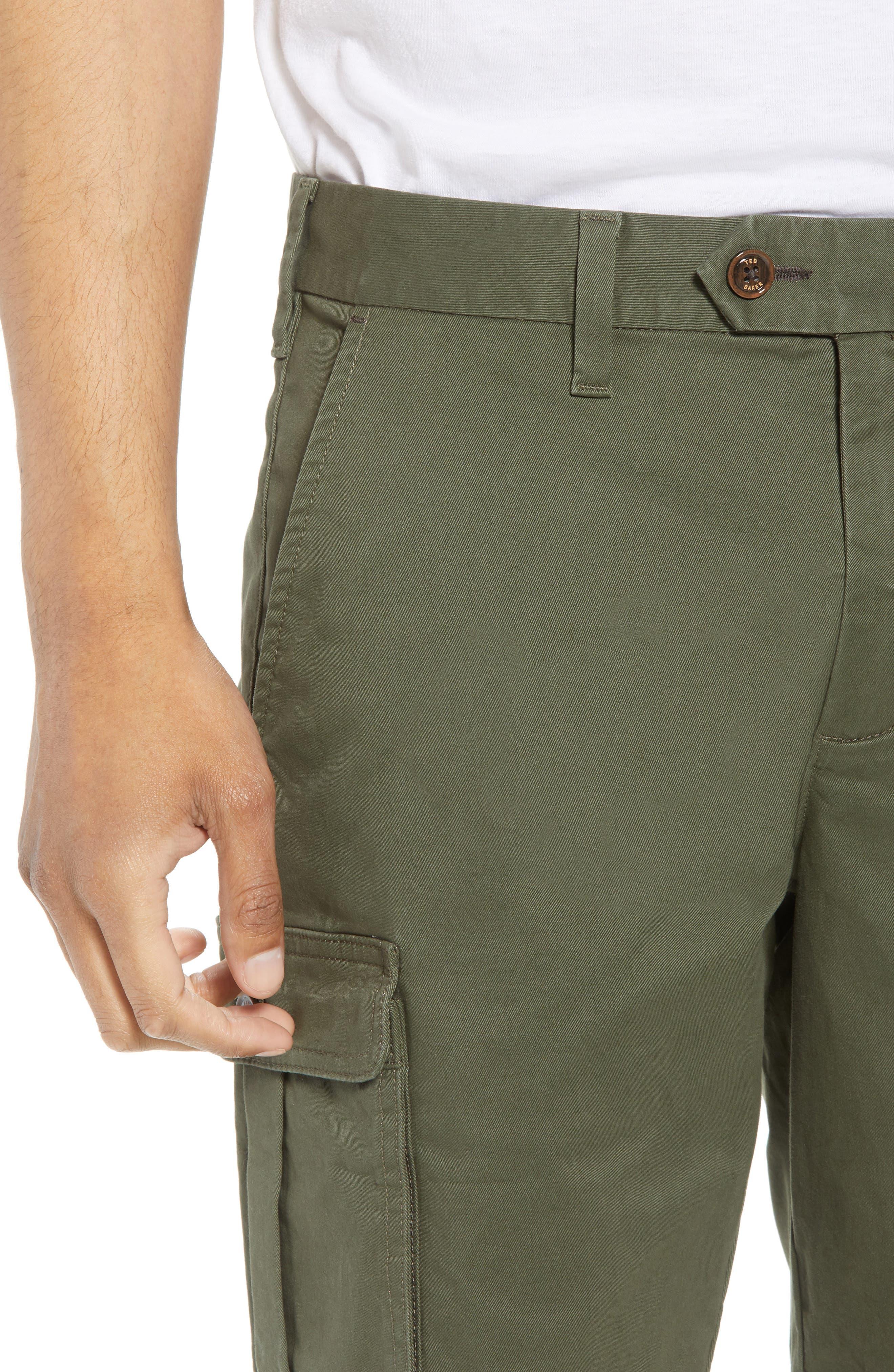 Ted Baker Cargogo Slim Fit Shorts,                             Alternate thumbnail 4, color,                             Khaki