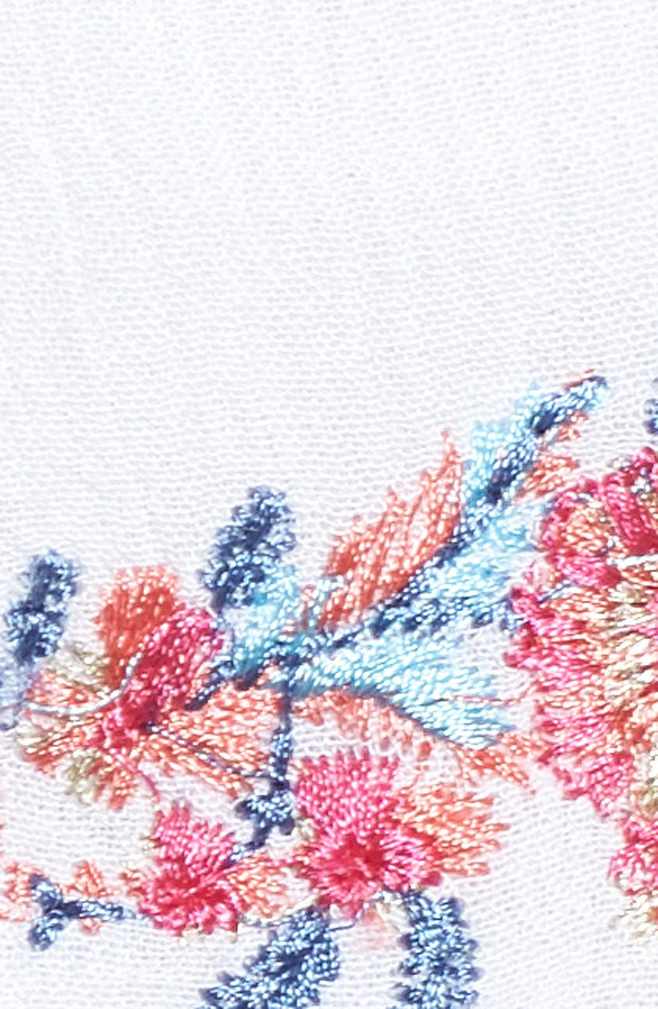 Mariah Embroidered Halter Neck Romper,                             Alternate thumbnail 3, color,                             Multi