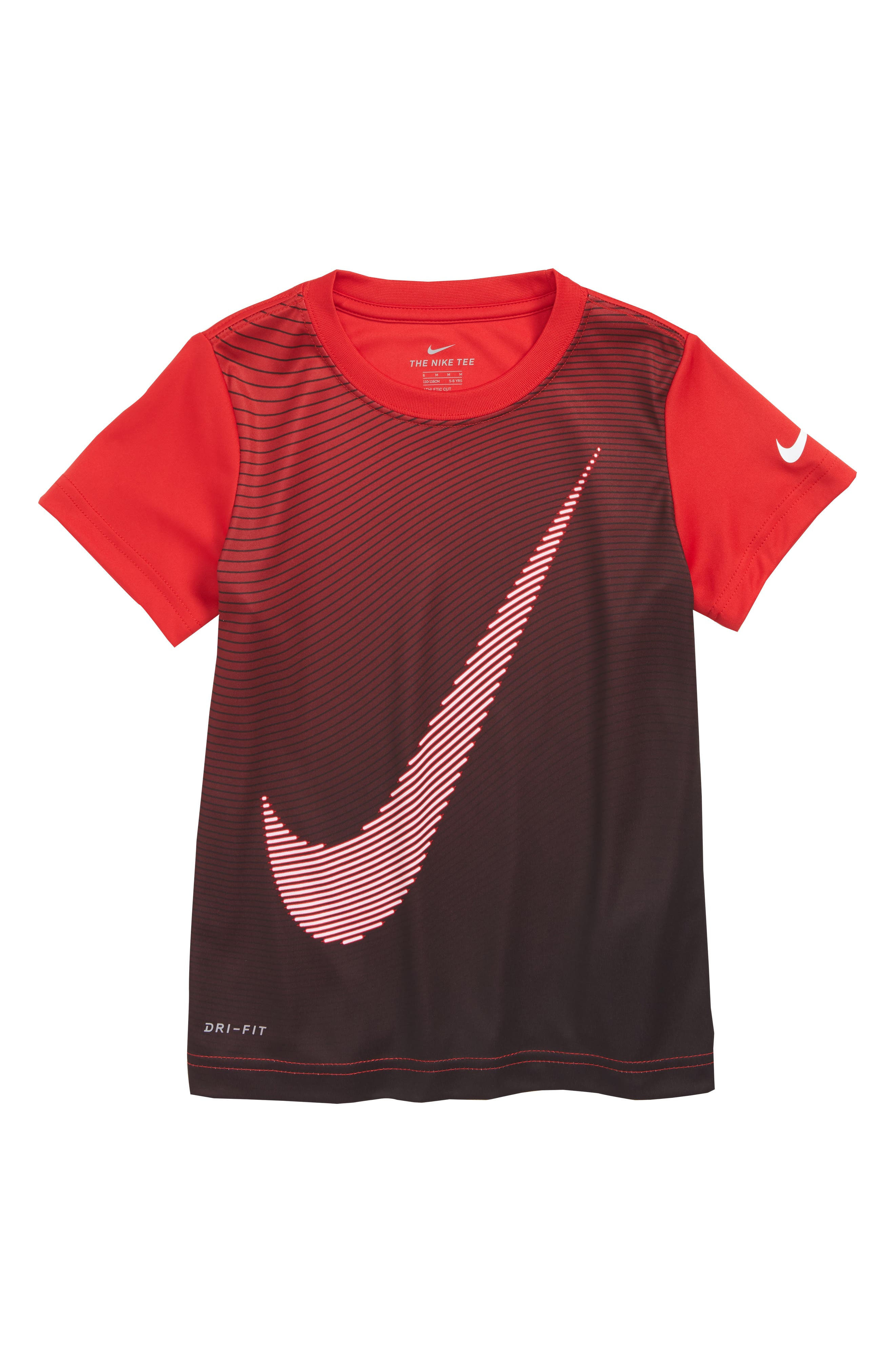Dry Optical Swoosh T-Shirt,                         Main,                         color, University Red