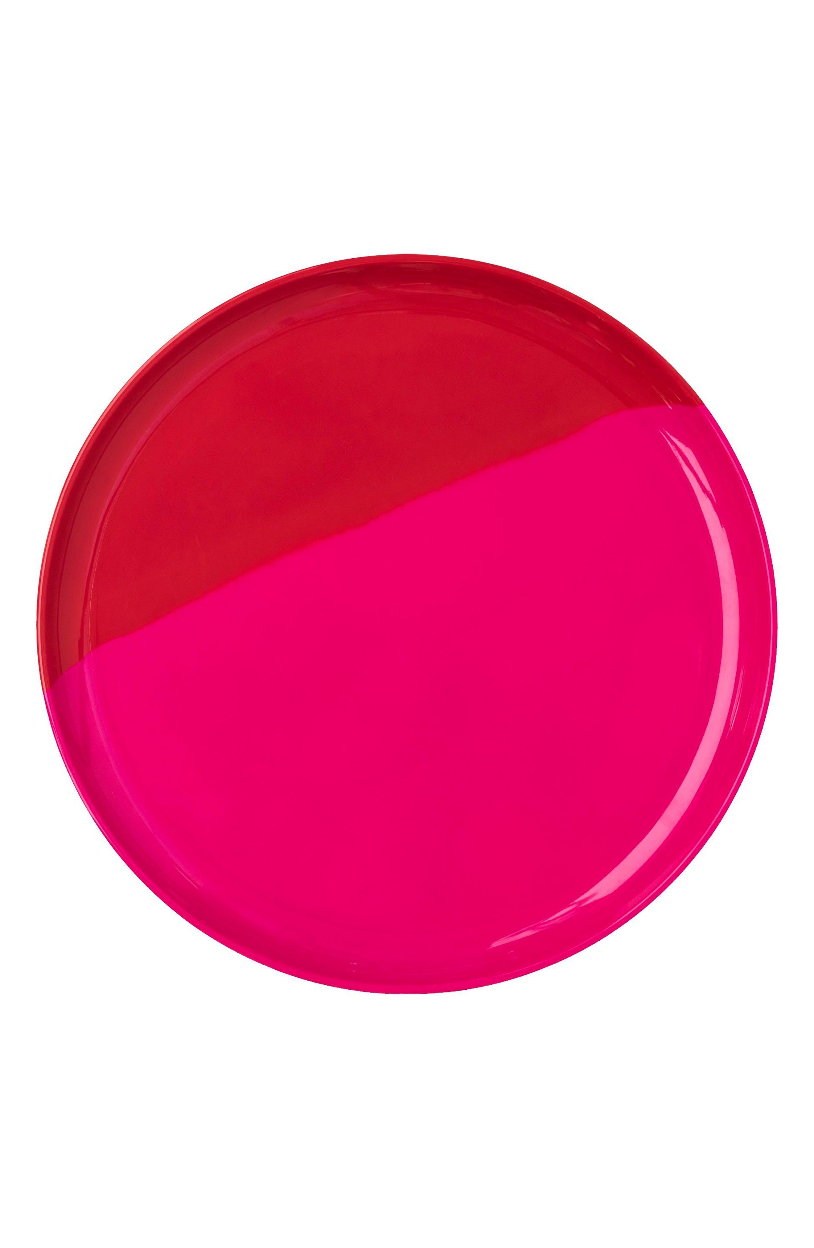 Set of 4 Melamine Side Plates,                             Main thumbnail 1, color,                             Fuchsia / Red