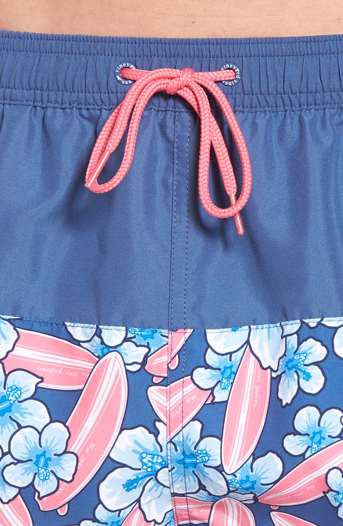 Chappy Pieced Surfboard Swim Trunks,                             Alternate thumbnail 4, color,                             Moonshine