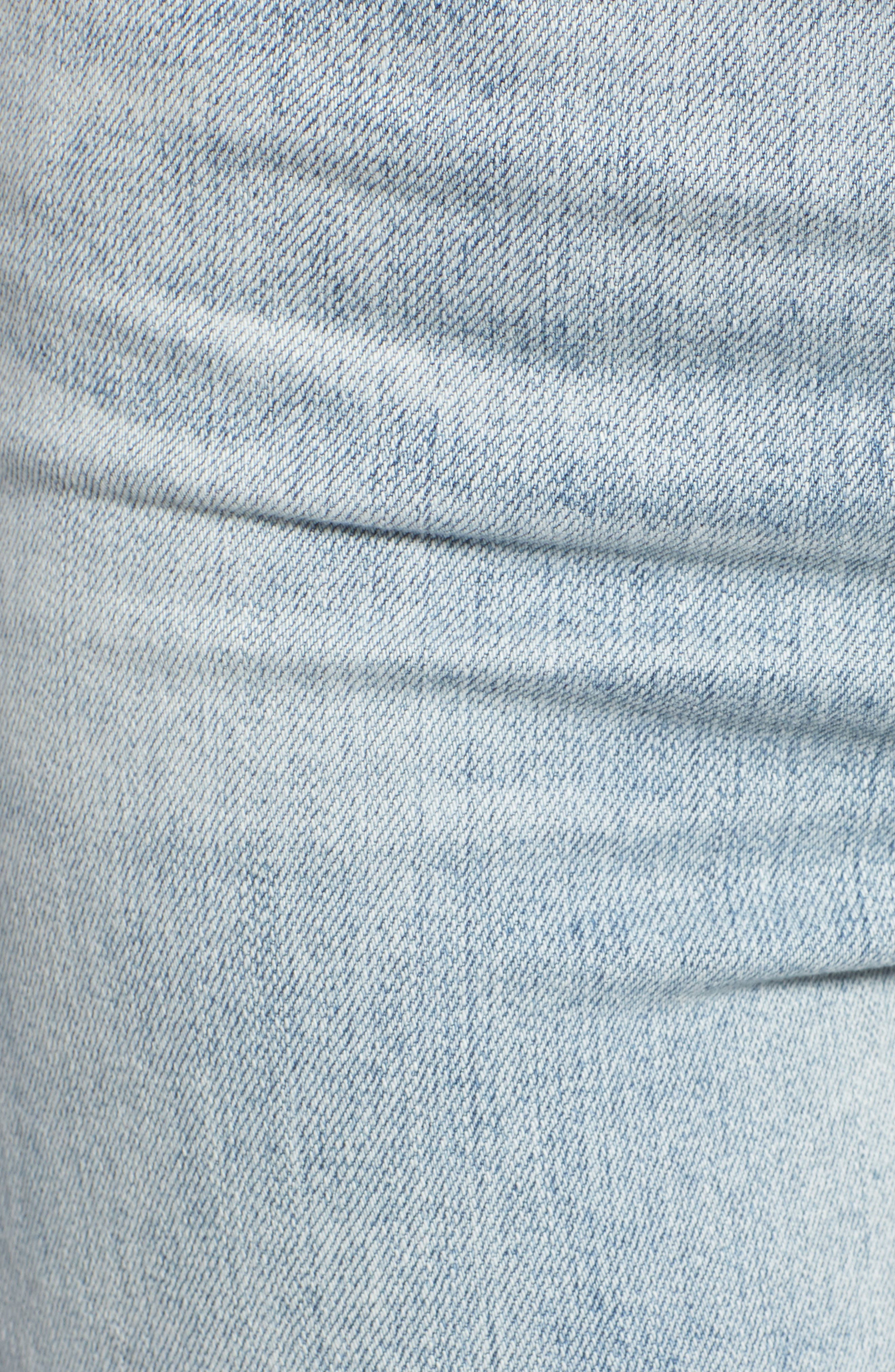 The Isabelle High Waist Crop Straight Leg Jeans,                             Alternate thumbnail 6, color,                             21 Years-Reflection