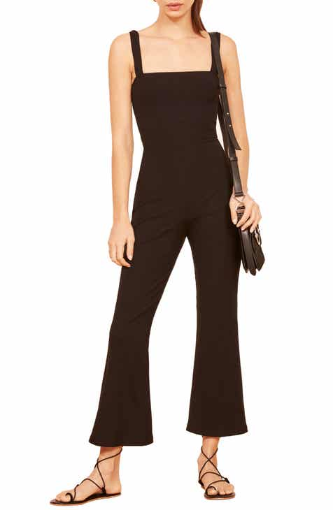 Reformation Essie Flare Crop Jumpsuit by REFORMATION