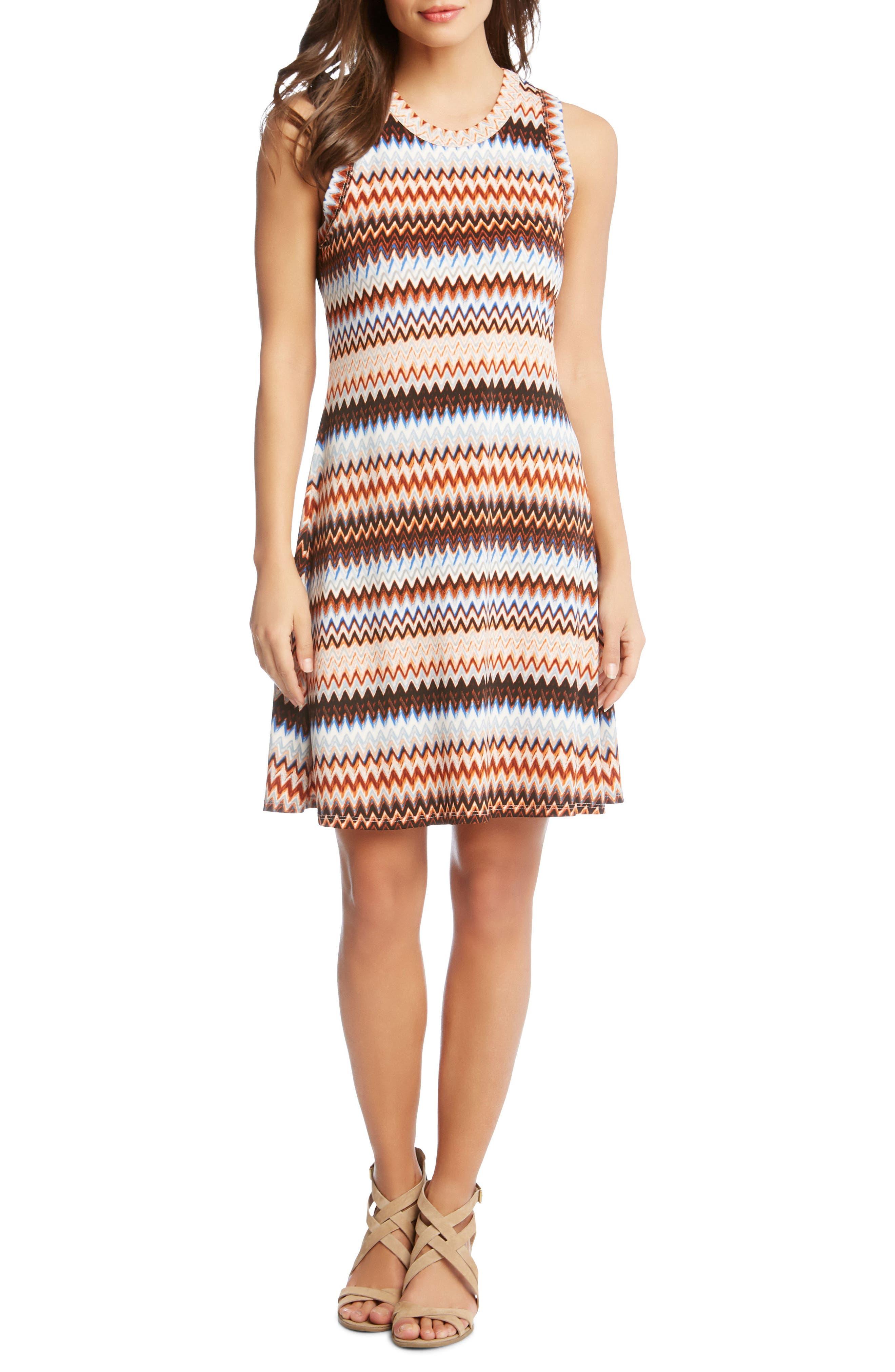 Zigzag Tank Dress,                         Main,                         color, Print