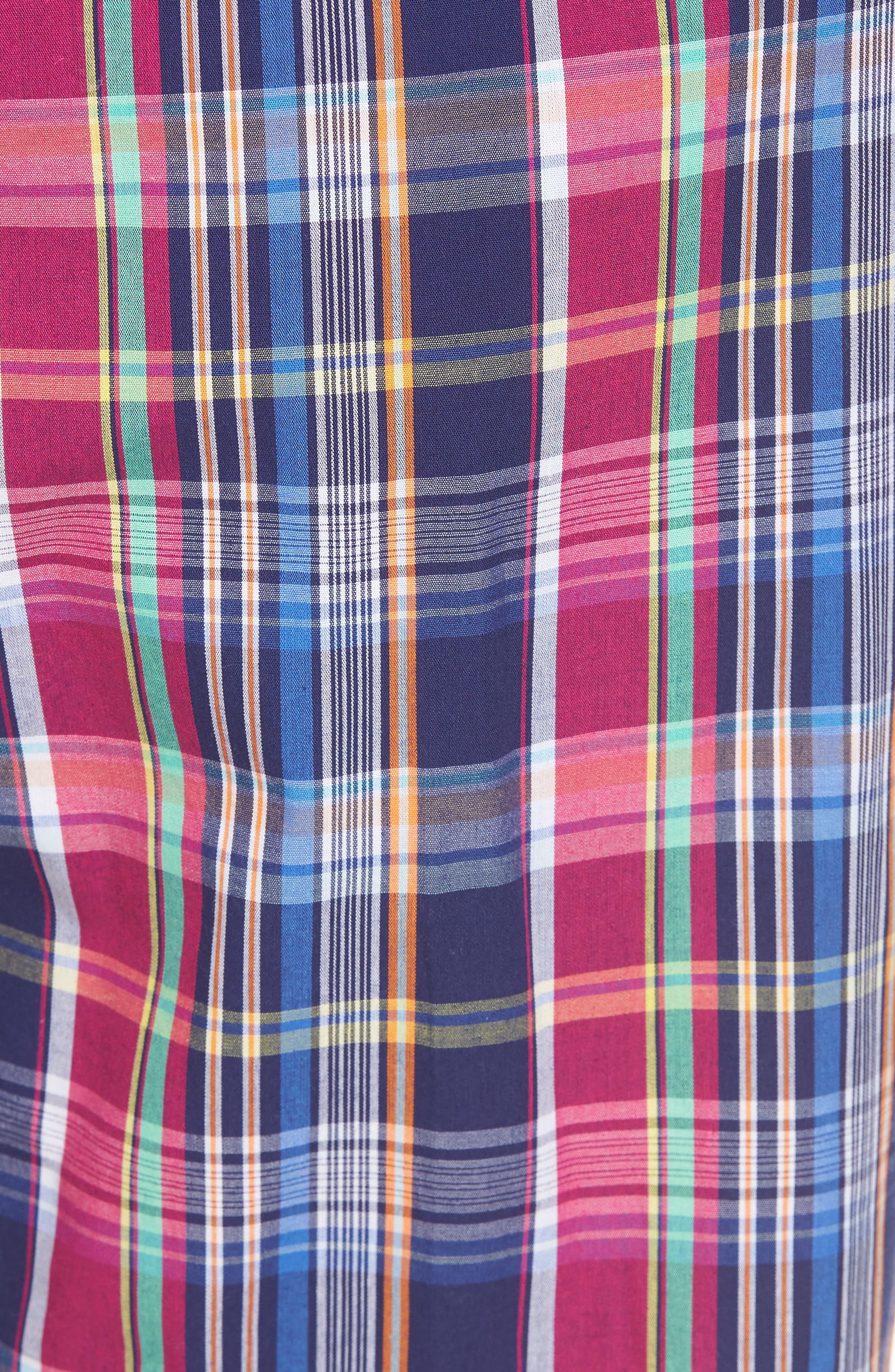 Cotton Lounge Pants,                             Alternate thumbnail 4, color,                             Collins Plaid