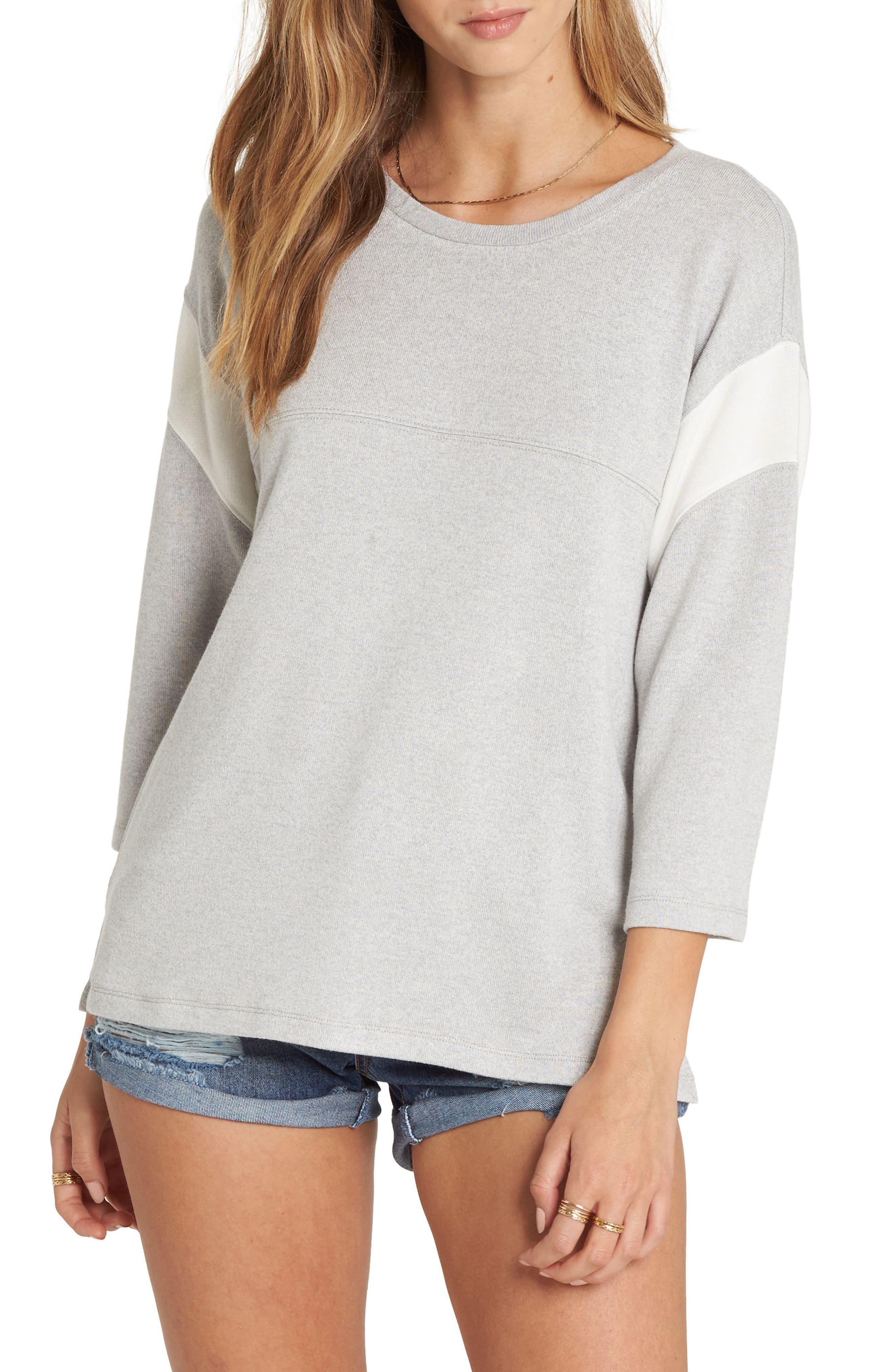 Kicking Game Sweatshirt,                             Main thumbnail 1, color,                             Ice Athletic Grey
