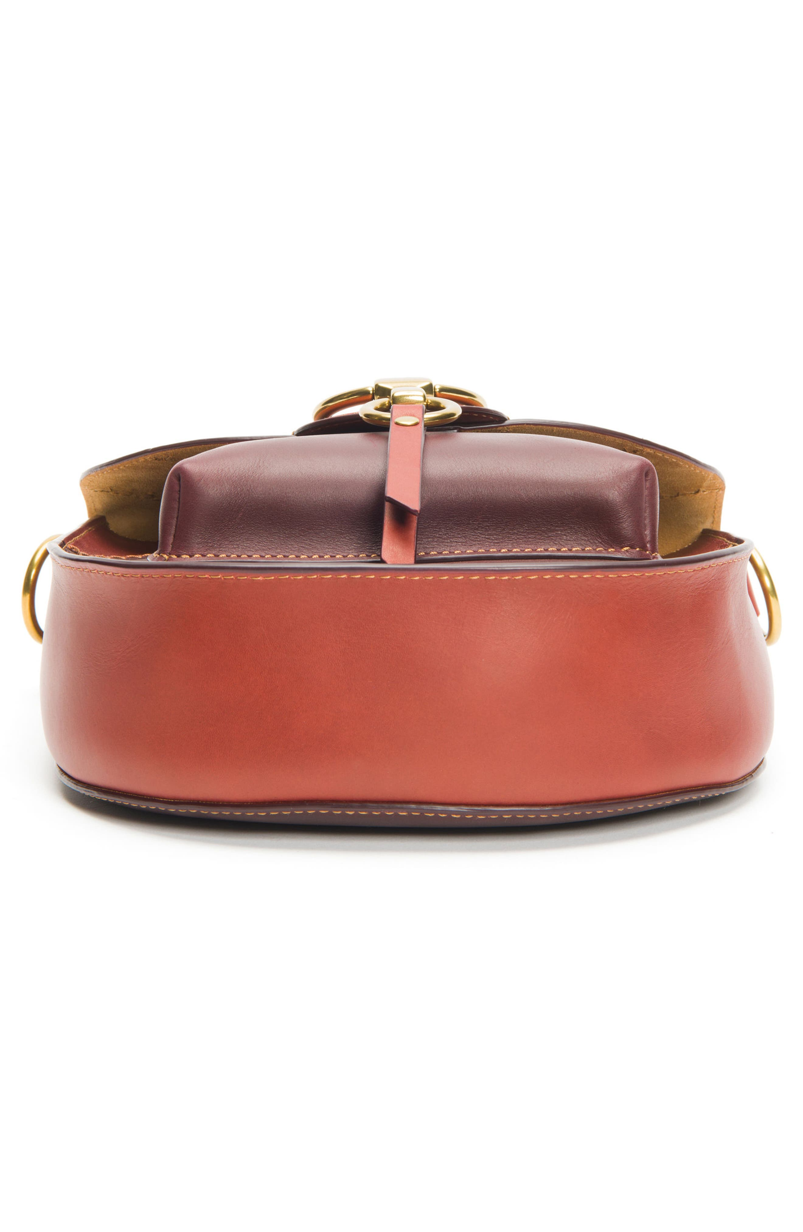 Ilana Colorblock Leather Saddle Bag,                             Alternate thumbnail 6, color,                             Red Clay Multi