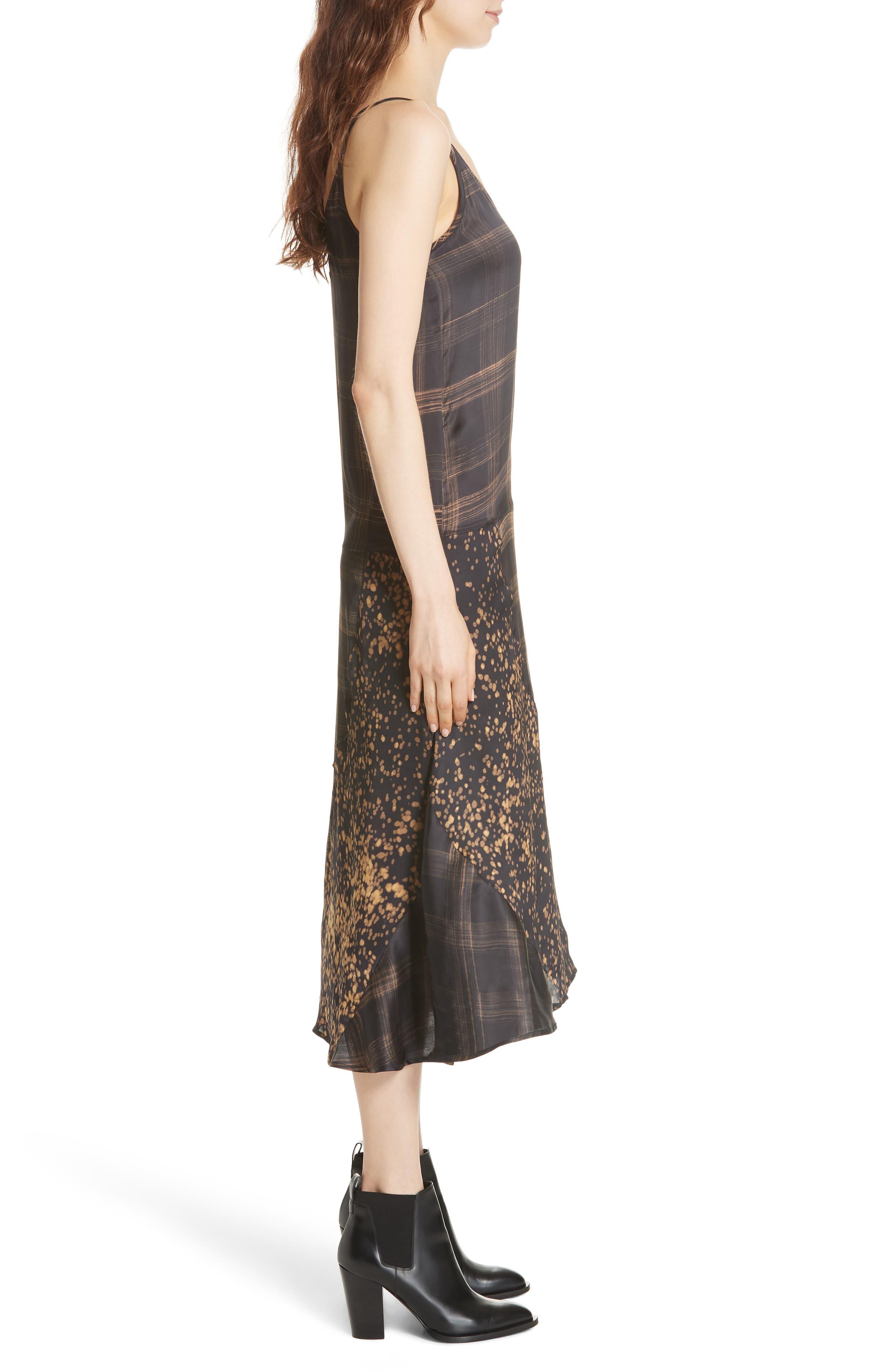 Gambetta Printed Midi Dress,                             Alternate thumbnail 3, color,                             Black Mix