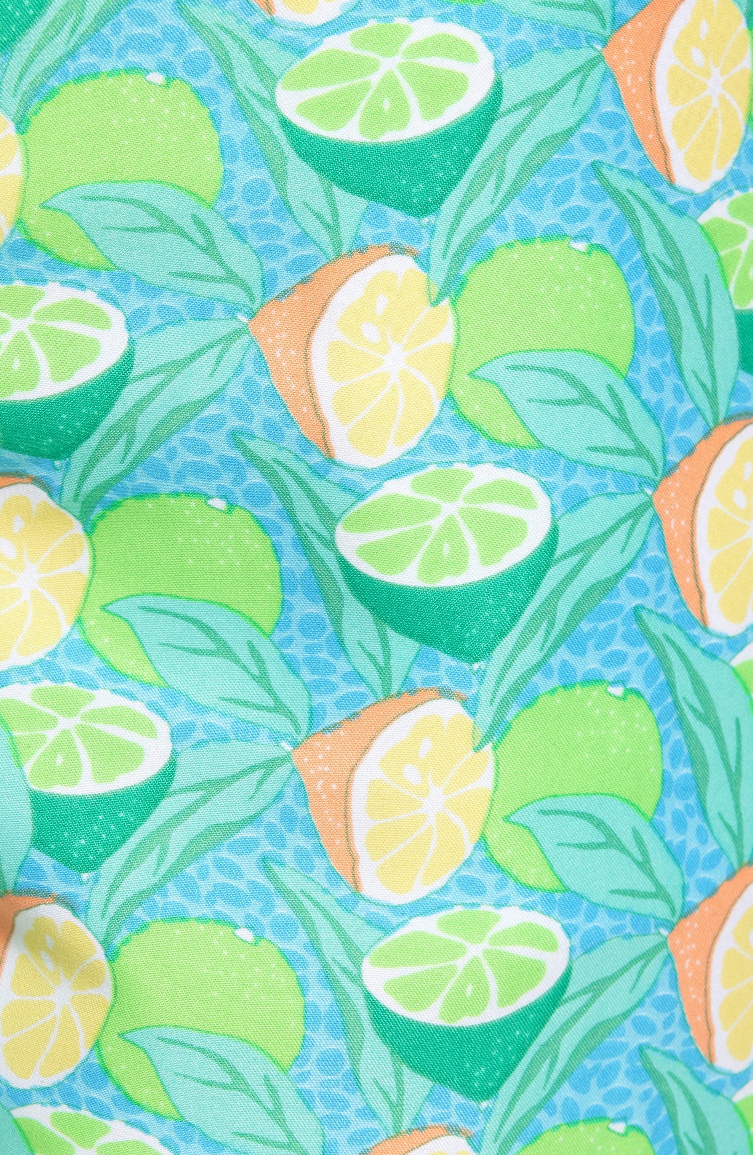 Sour Lemons Swim Trunks,                             Alternate thumbnail 5, color,                             Watercress