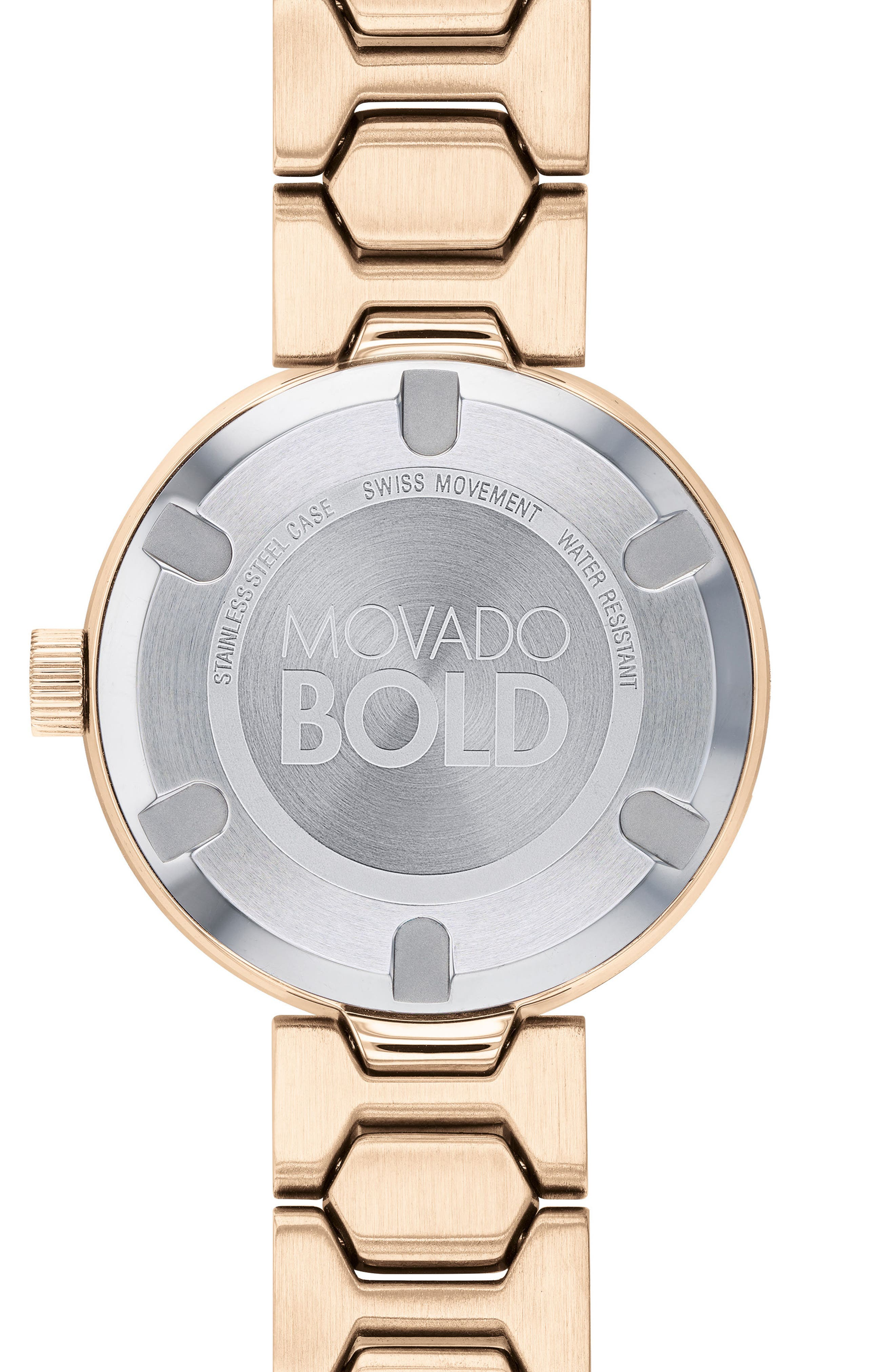 Bold Pavé T-Bar Bracelet Watch, 32mm,                             Alternate thumbnail 2, color,                             Rose Gold
