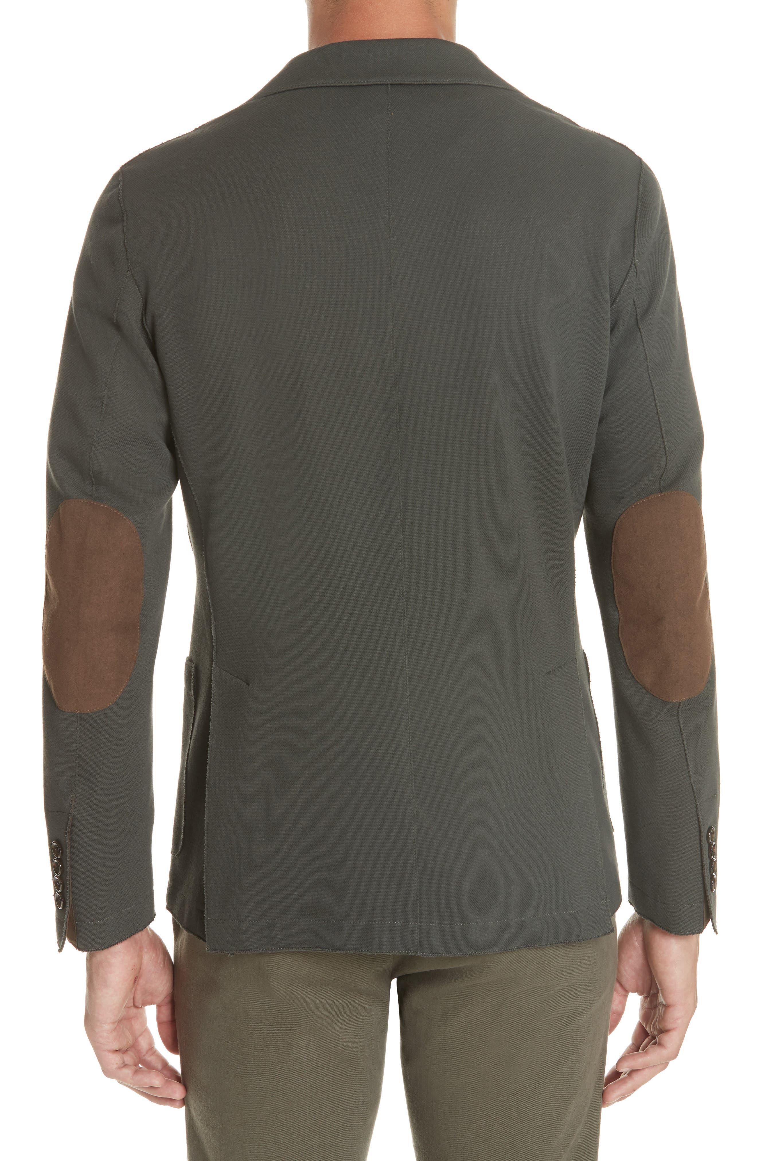 Trim Fit Stretch Cotton Blend Blazer,                             Alternate thumbnail 2, color,                             Sage