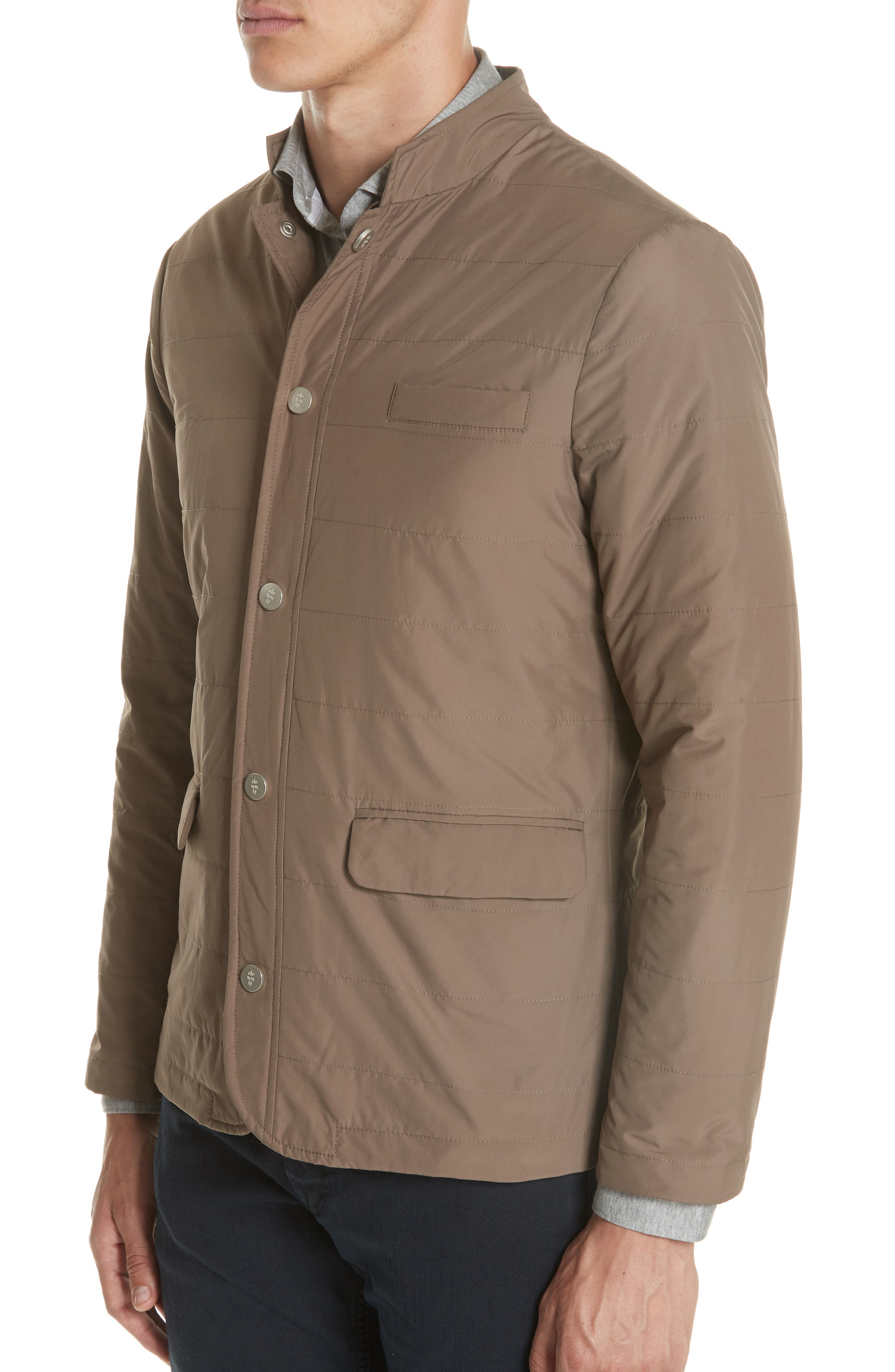Quilted Jacket,                             Alternate thumbnail 4, color,                             Taupe