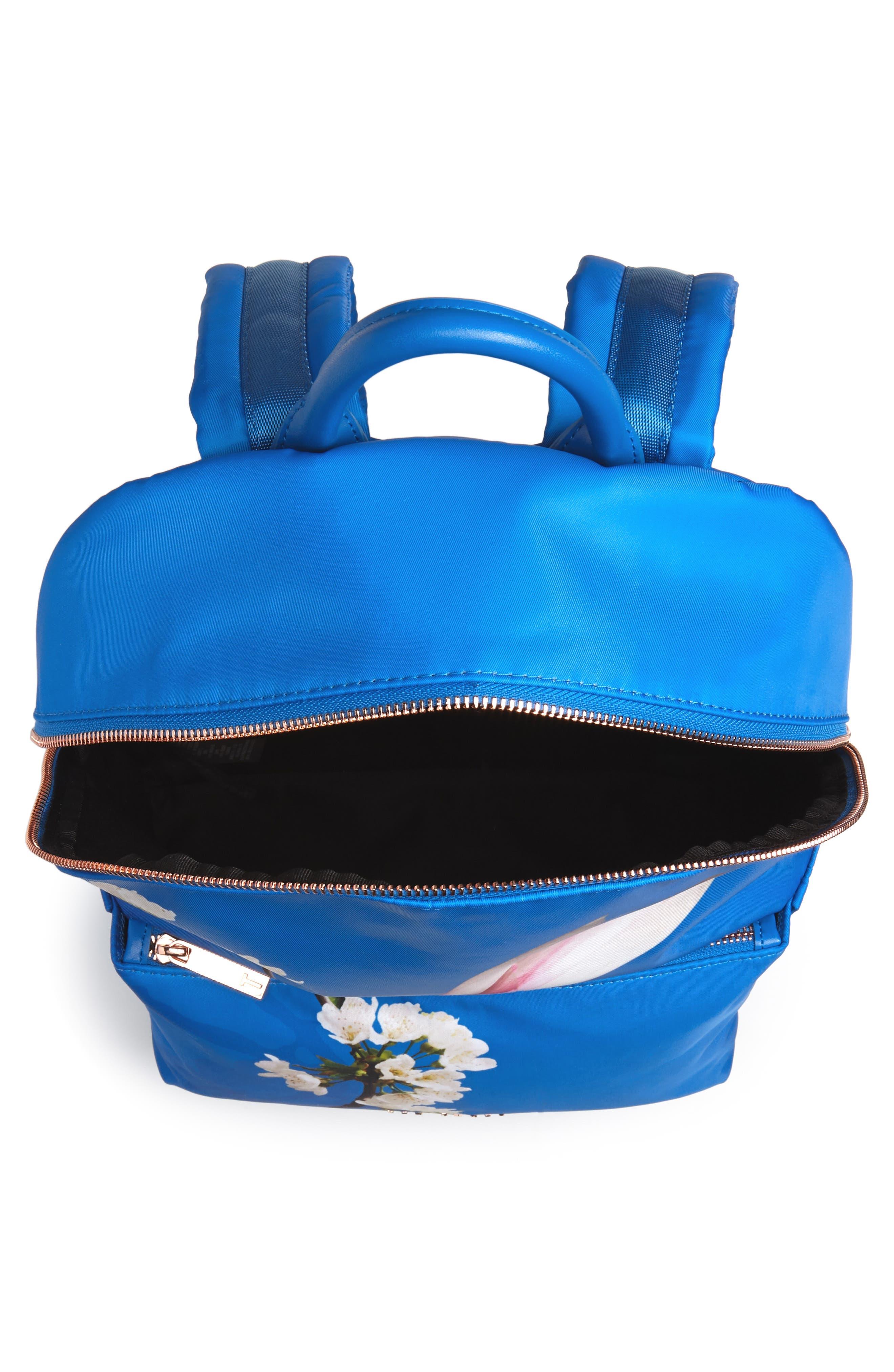 Harmony Print Backpack,                             Alternate thumbnail 4, color,                             Bright Blue