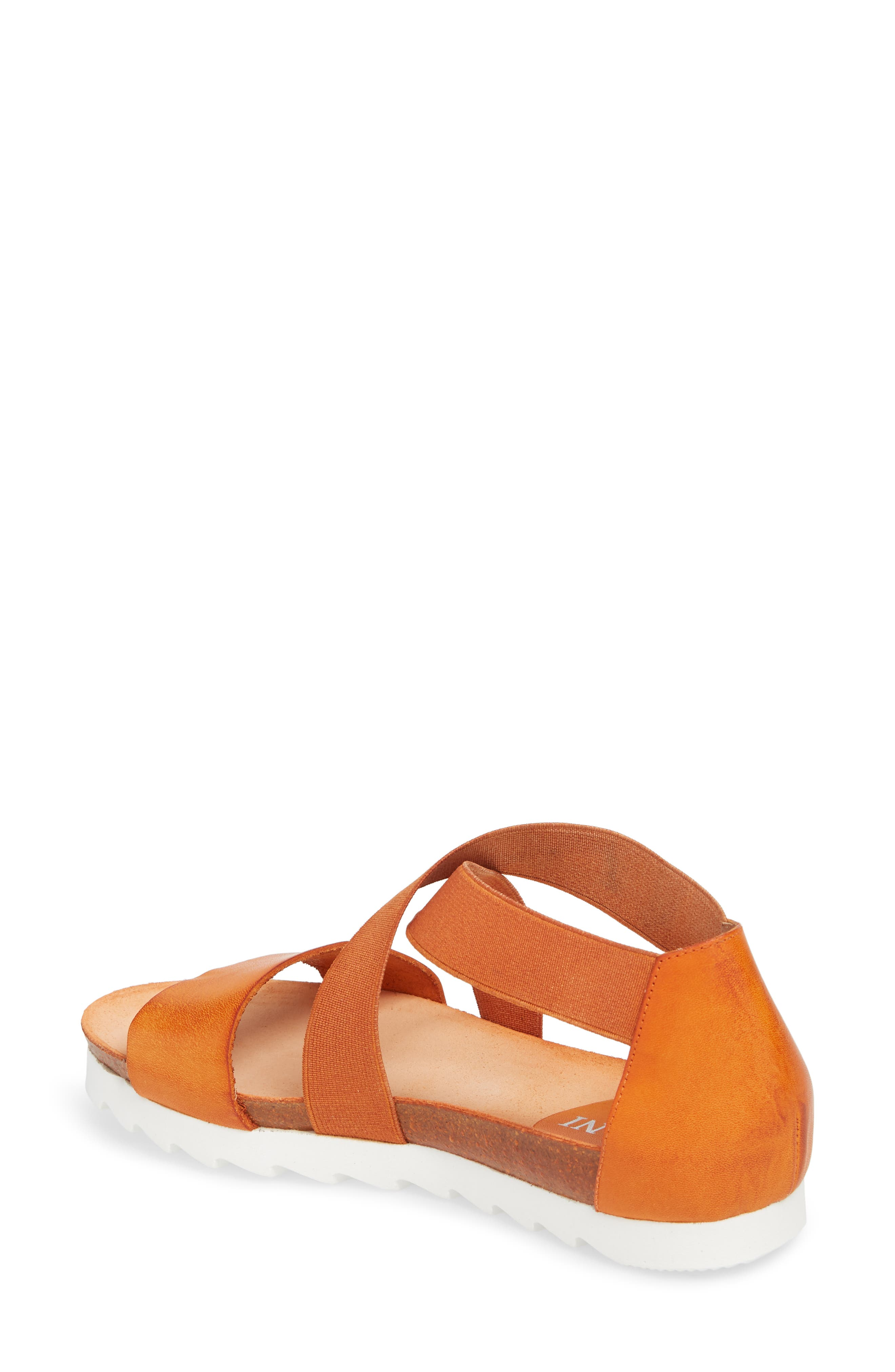 Sayger Sandal,                             Alternate thumbnail 2, color,                             Orange Leather