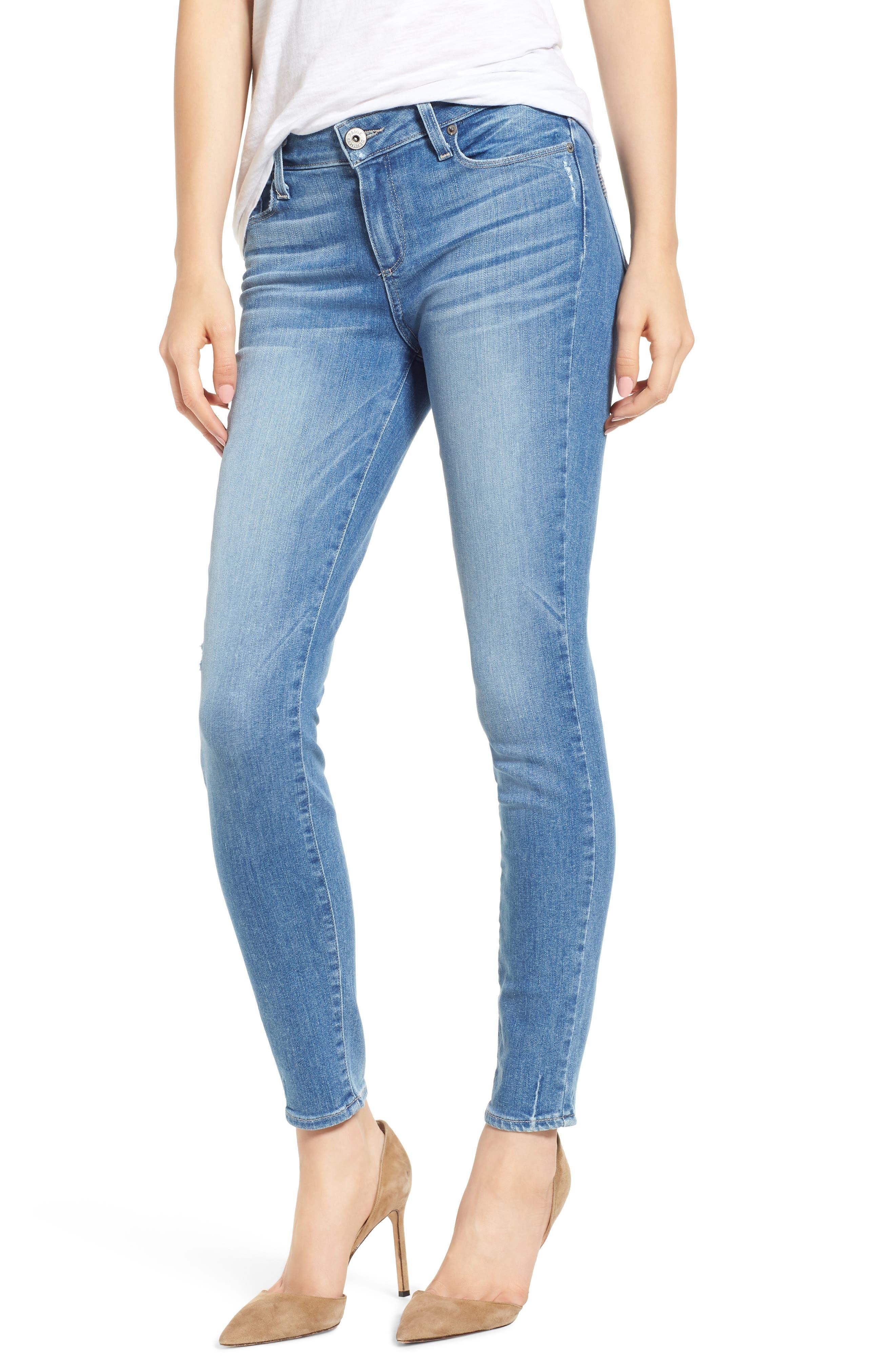 PAIGE Transcend Vintage - Verdugo Ultra Skinny Jeans (Atterbury) (Petite)