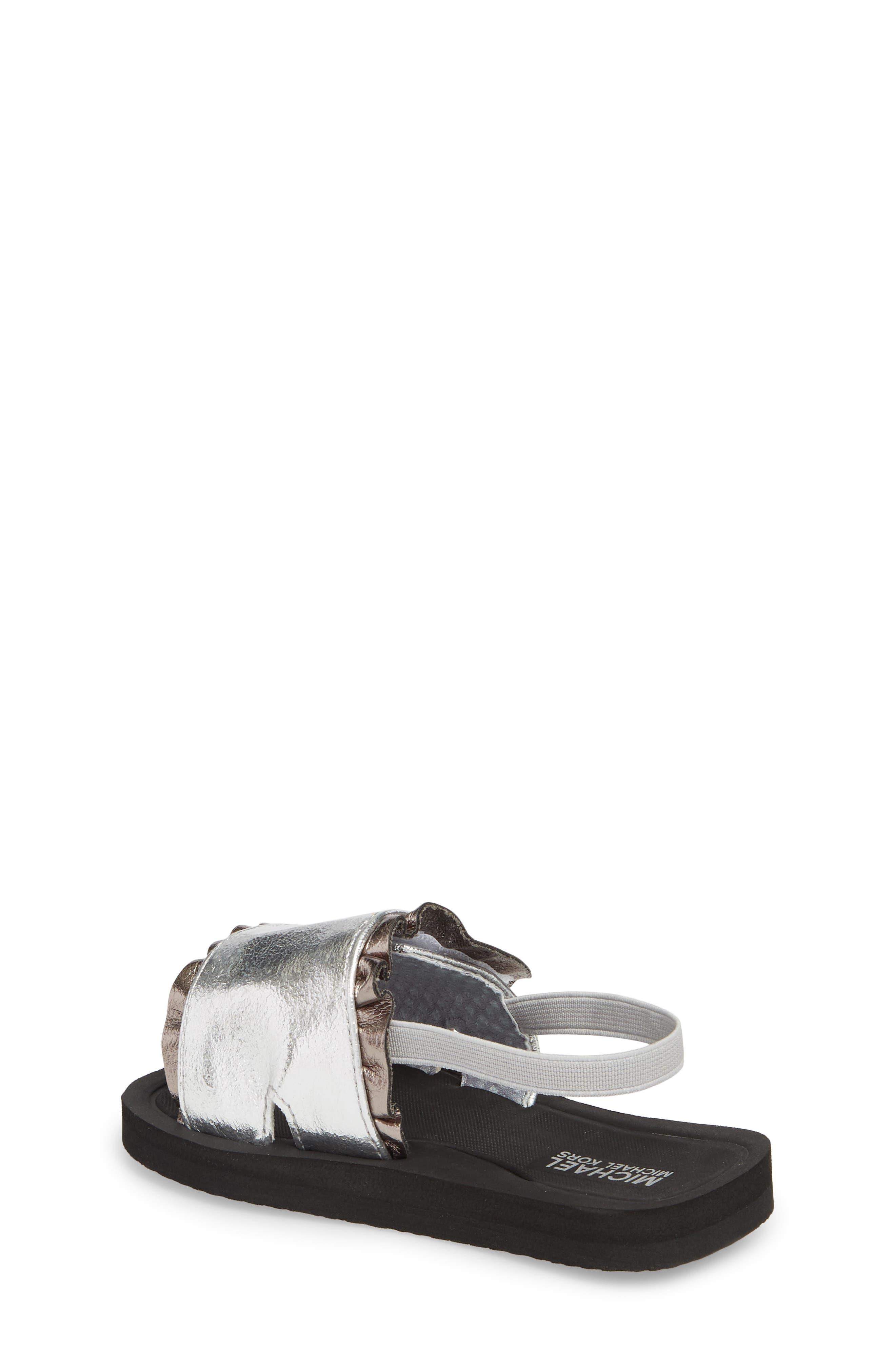 Eli Jack Metallic Sandal,                             Alternate thumbnail 2, color,                             Silver