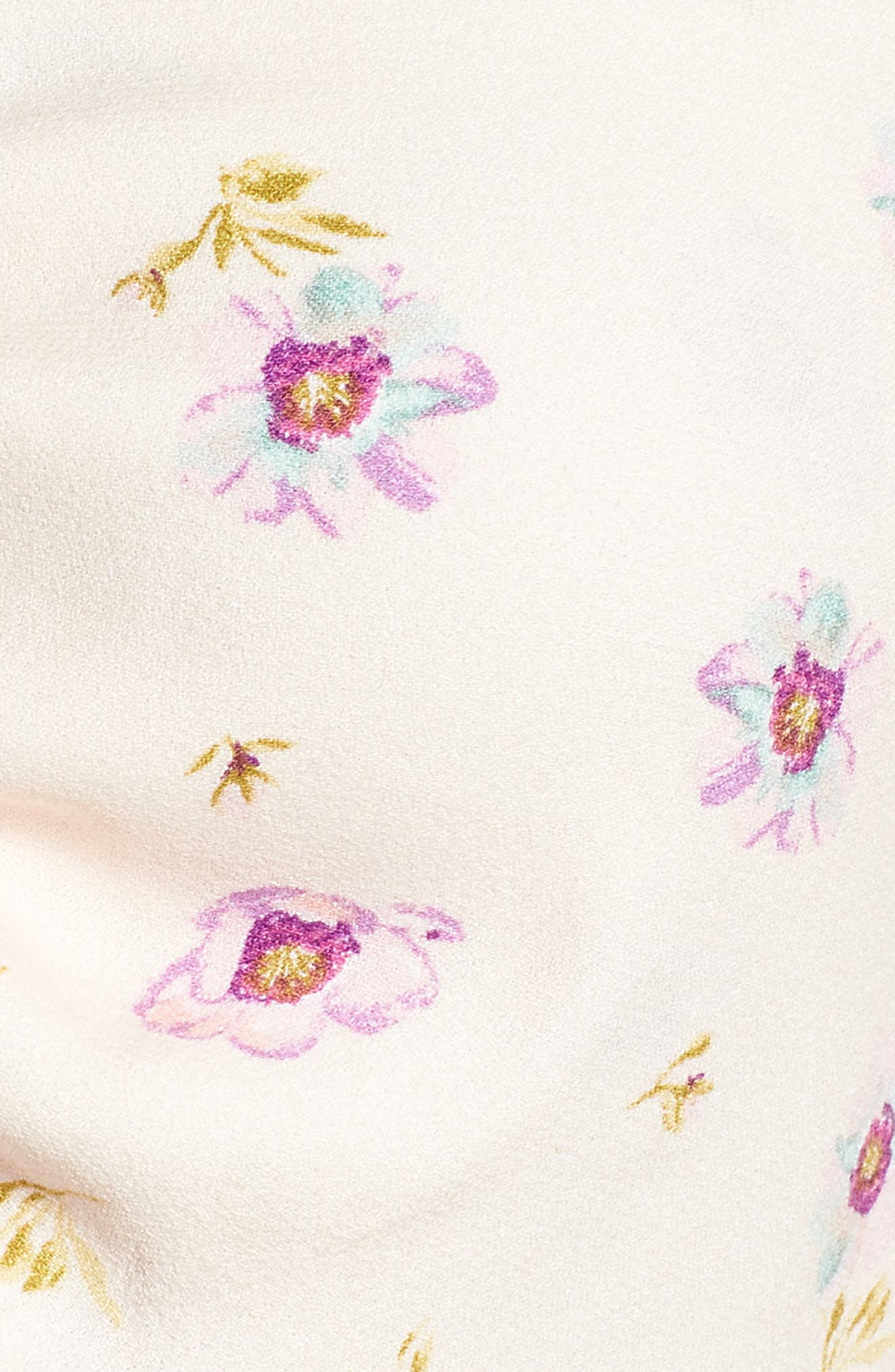 Rodeo Ruched Crop Top,                             Alternate thumbnail 6, color,                             Lilac Floral