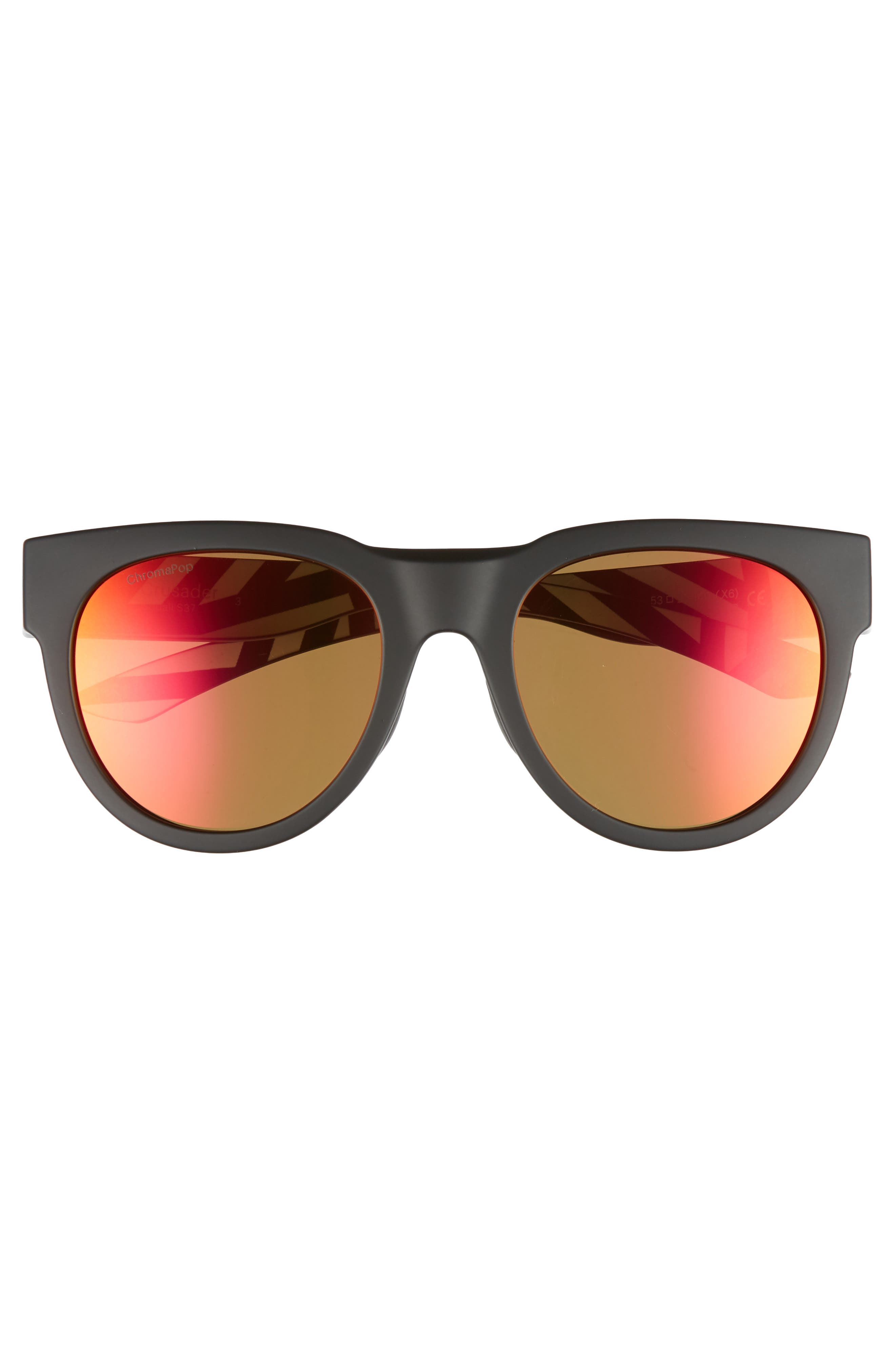 Crusader 53mm ChromaPop<sup>™</sup> Round Sunglasses,                             Alternate thumbnail 2, color,                             Squall/ Sun Red Mirror