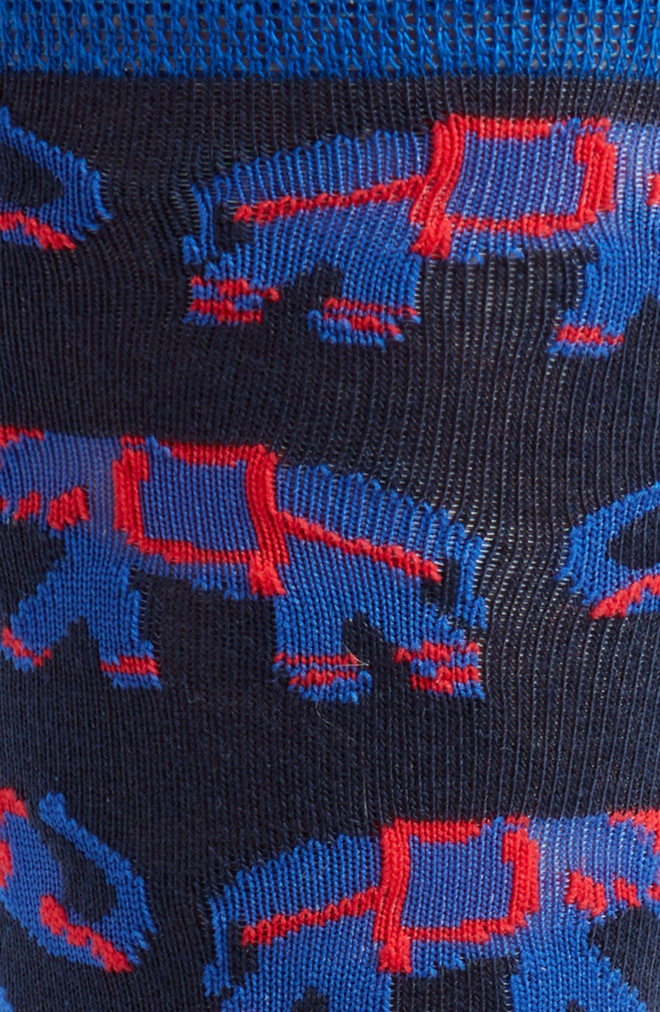 Elephant Socks,                             Alternate thumbnail 2, color,                             Navy