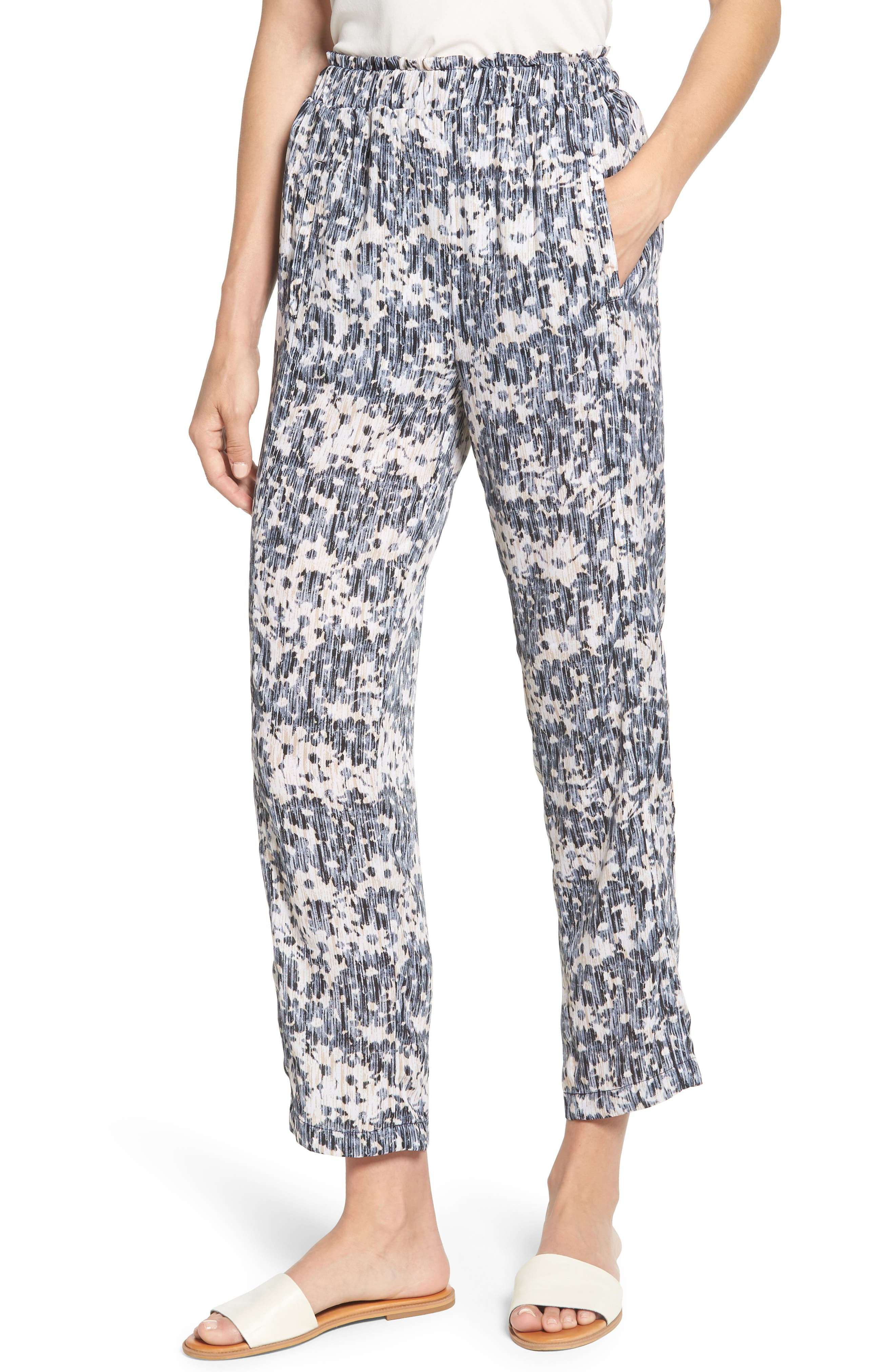 Bobeau Print Pull-On Pants (Regular & Petite)