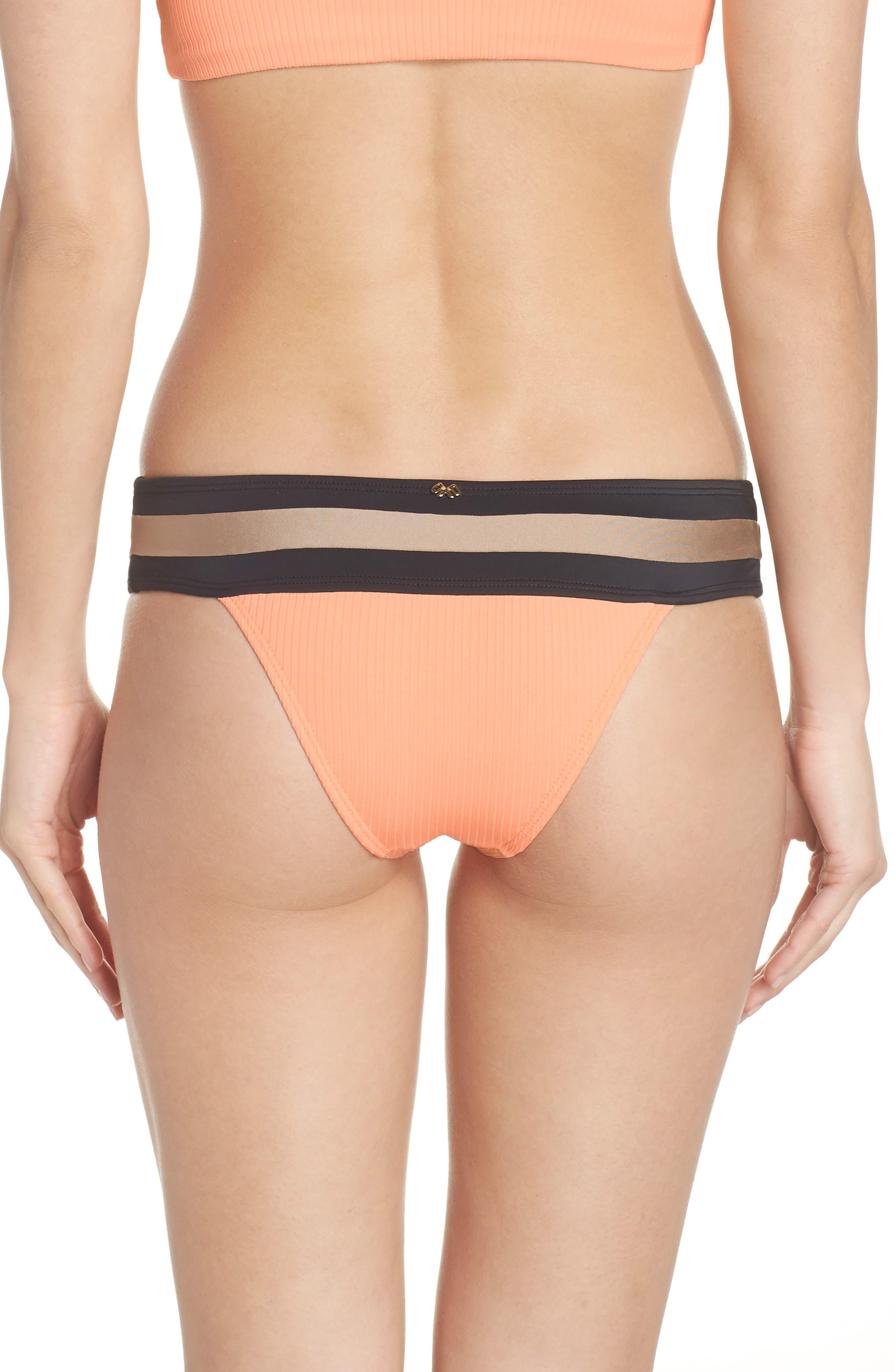 Banded Bikini Bottoms,                             Alternate thumbnail 2, color,                             Sandstone