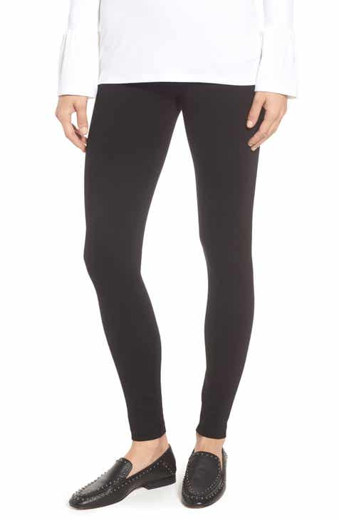 SPANX® Mama Faux Leather Maternity Leggings by SPANX