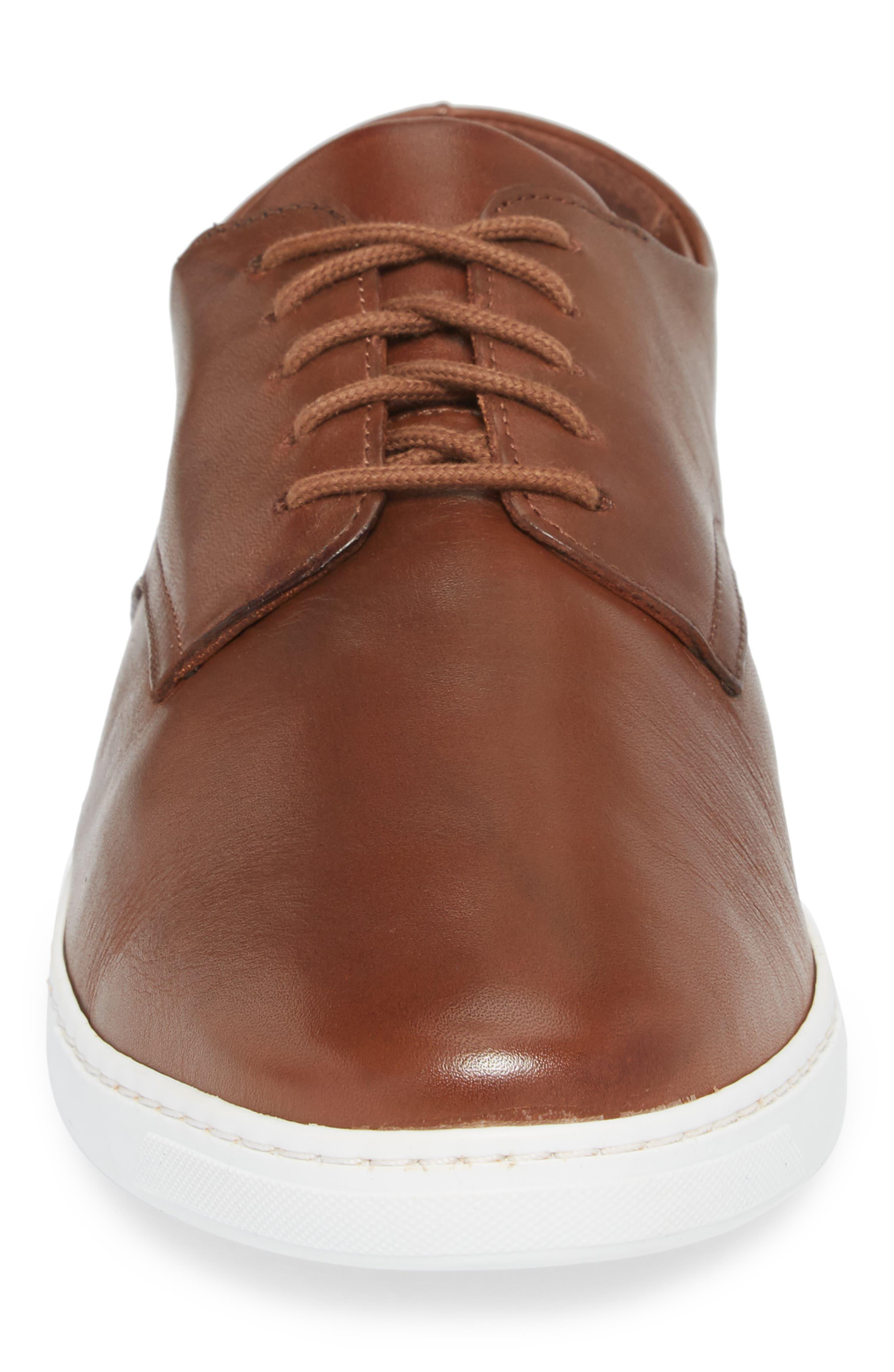 Nok Derby Sneaker,                             Alternate thumbnail 4, color,                             Brown Leather
