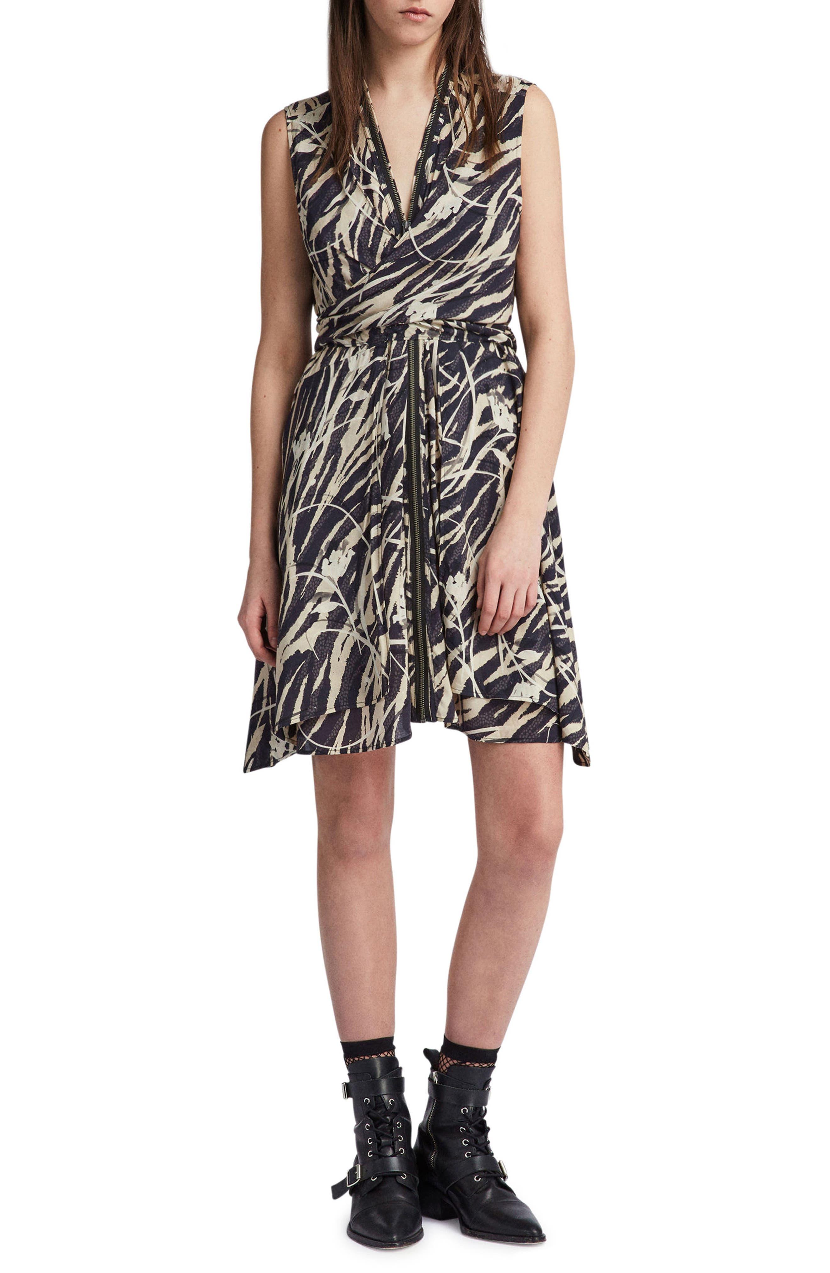 Jayda Katoi Dress,                         Main,                         color, Coal Black