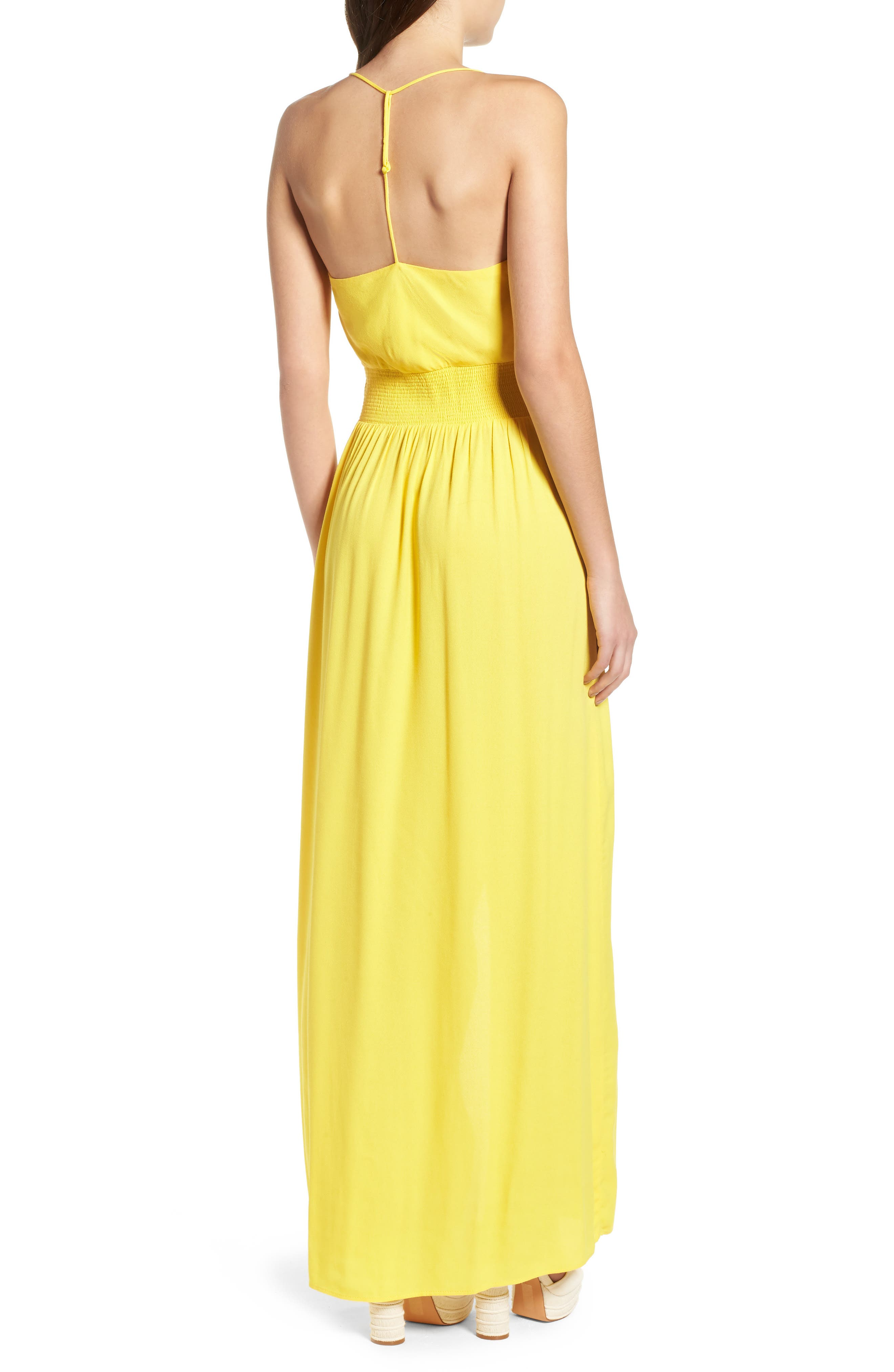 Rain Maxi Dress,                             Alternate thumbnail 2, color,                             Gold