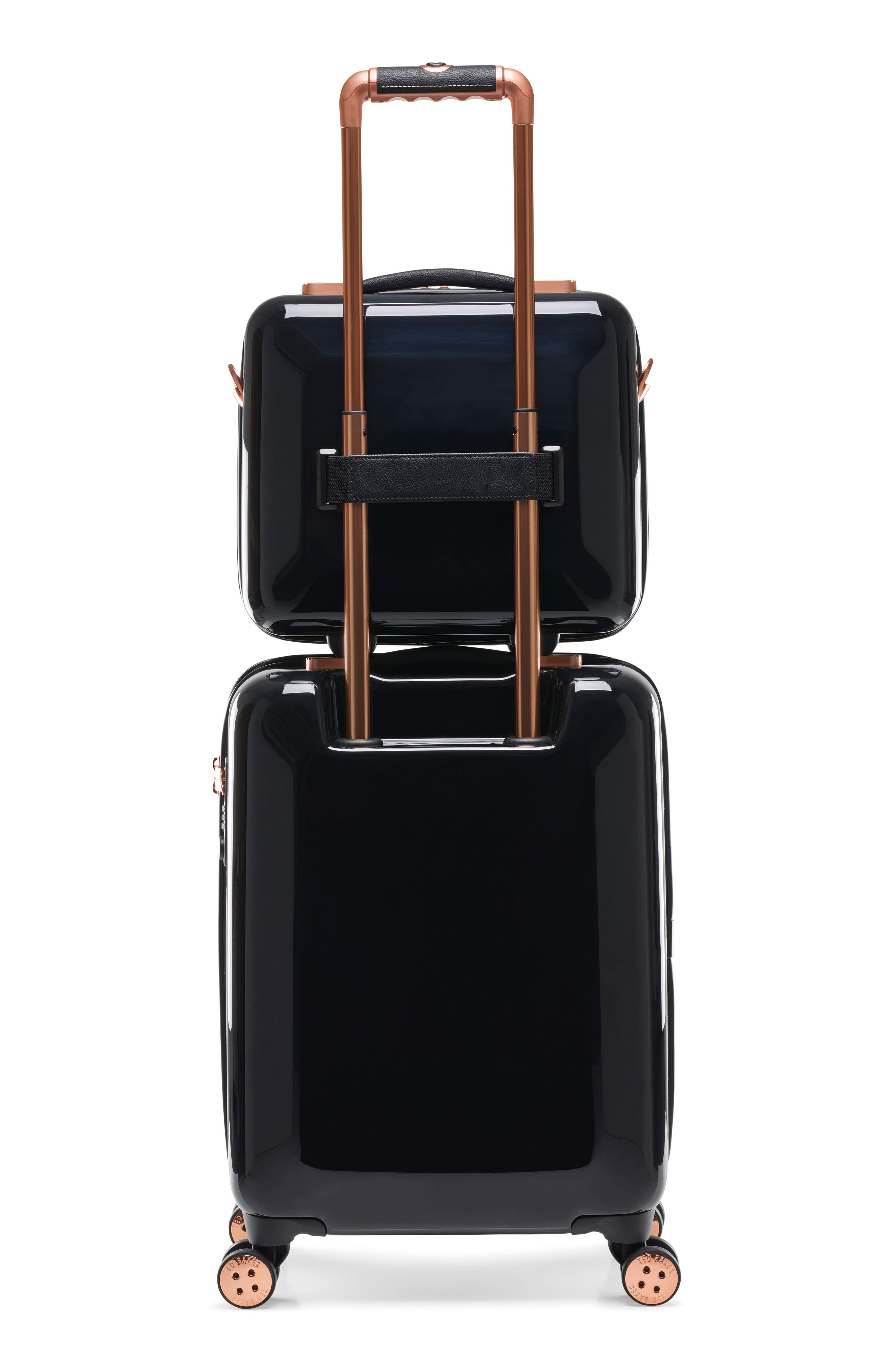 Small Versailles 21-Inch Spinner Carry-On,                             Alternate thumbnail 5, color,                             Black