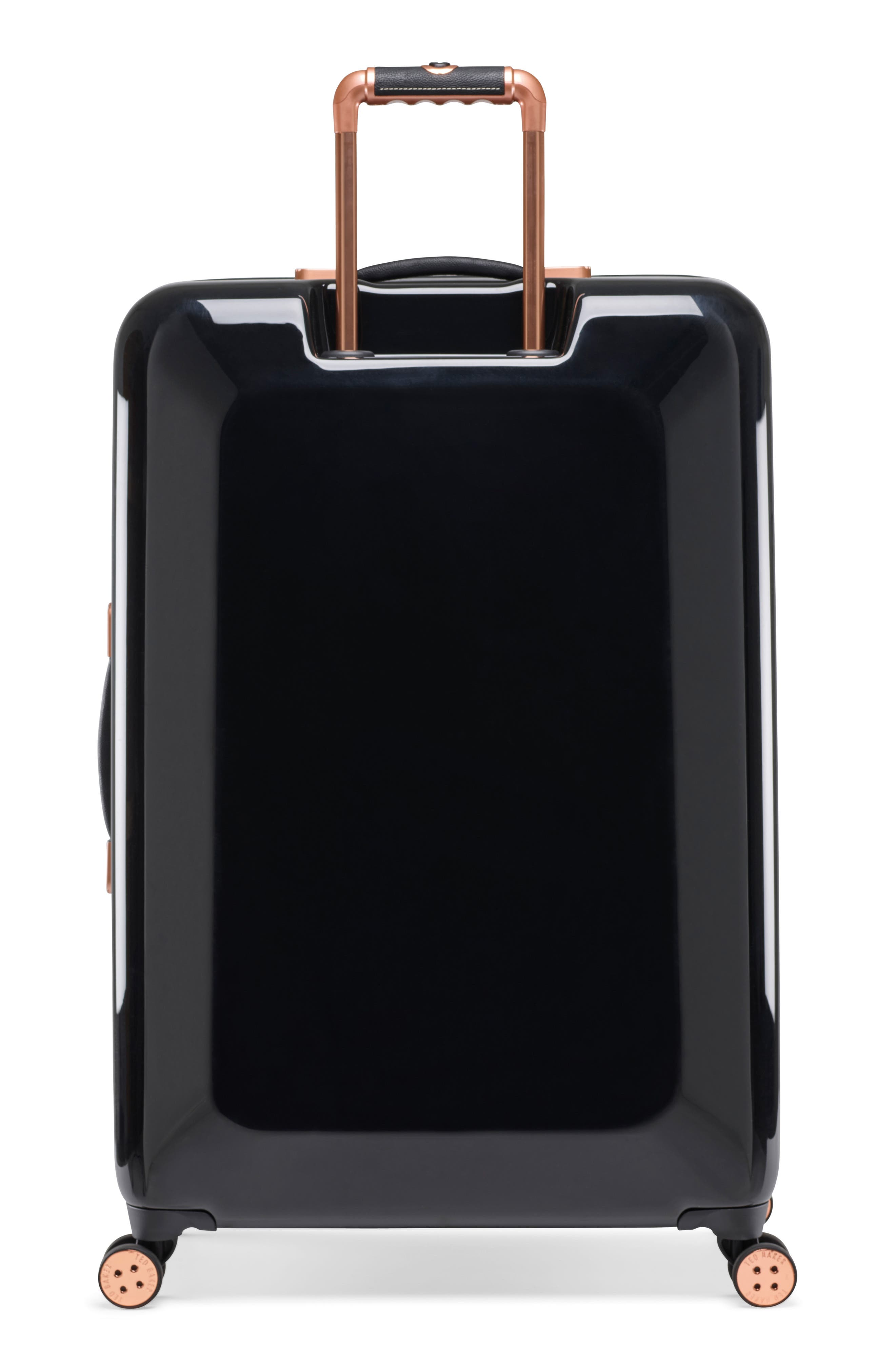 Large Versailles 31-Inch Hard Shell Spinner Suitcase,                             Alternate thumbnail 4, color,                             Black