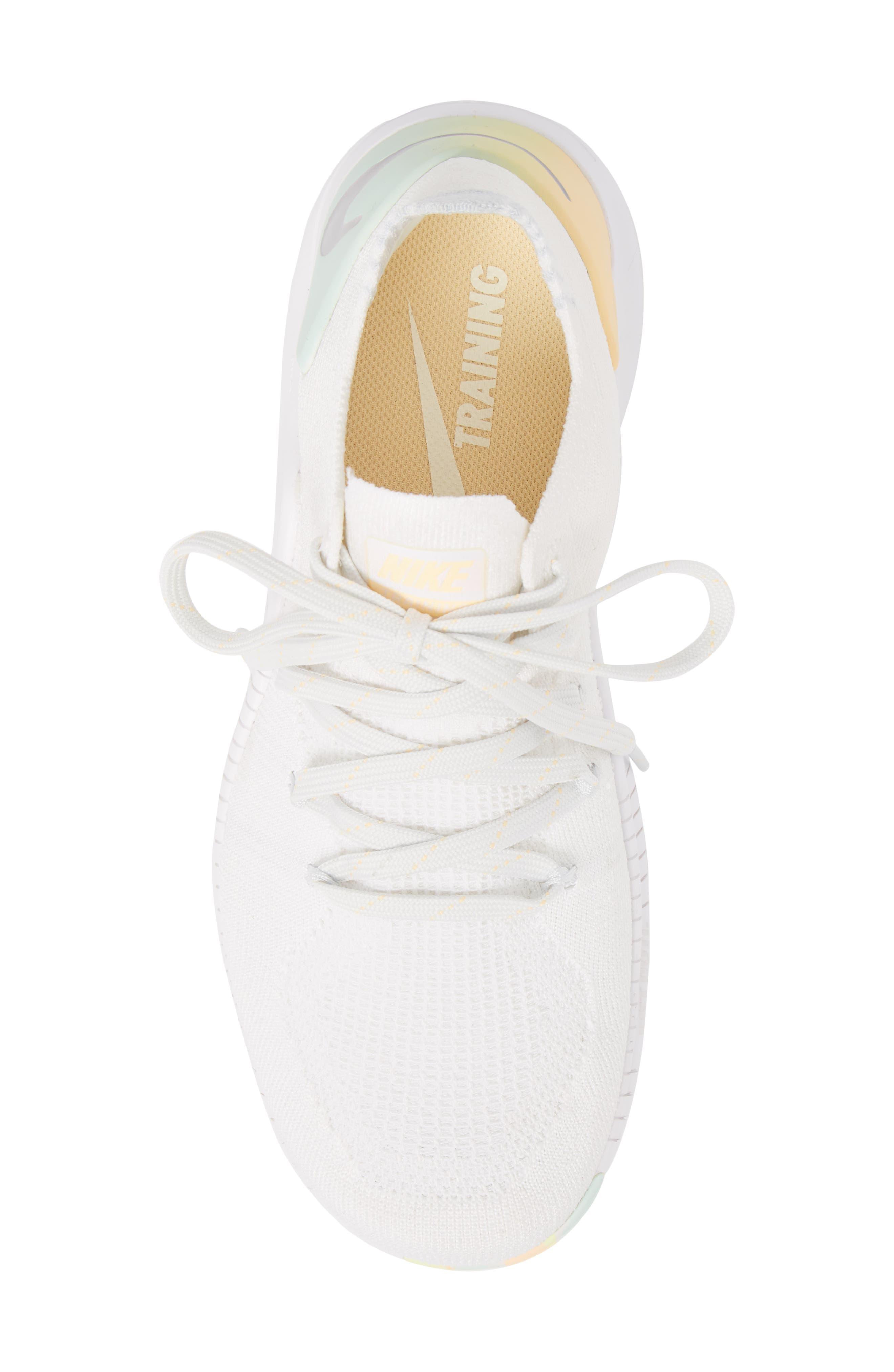 Free TR Flyknit 3 Rise Training Shoe,                             Alternate thumbnail 5, color,                             White/ Summit White
