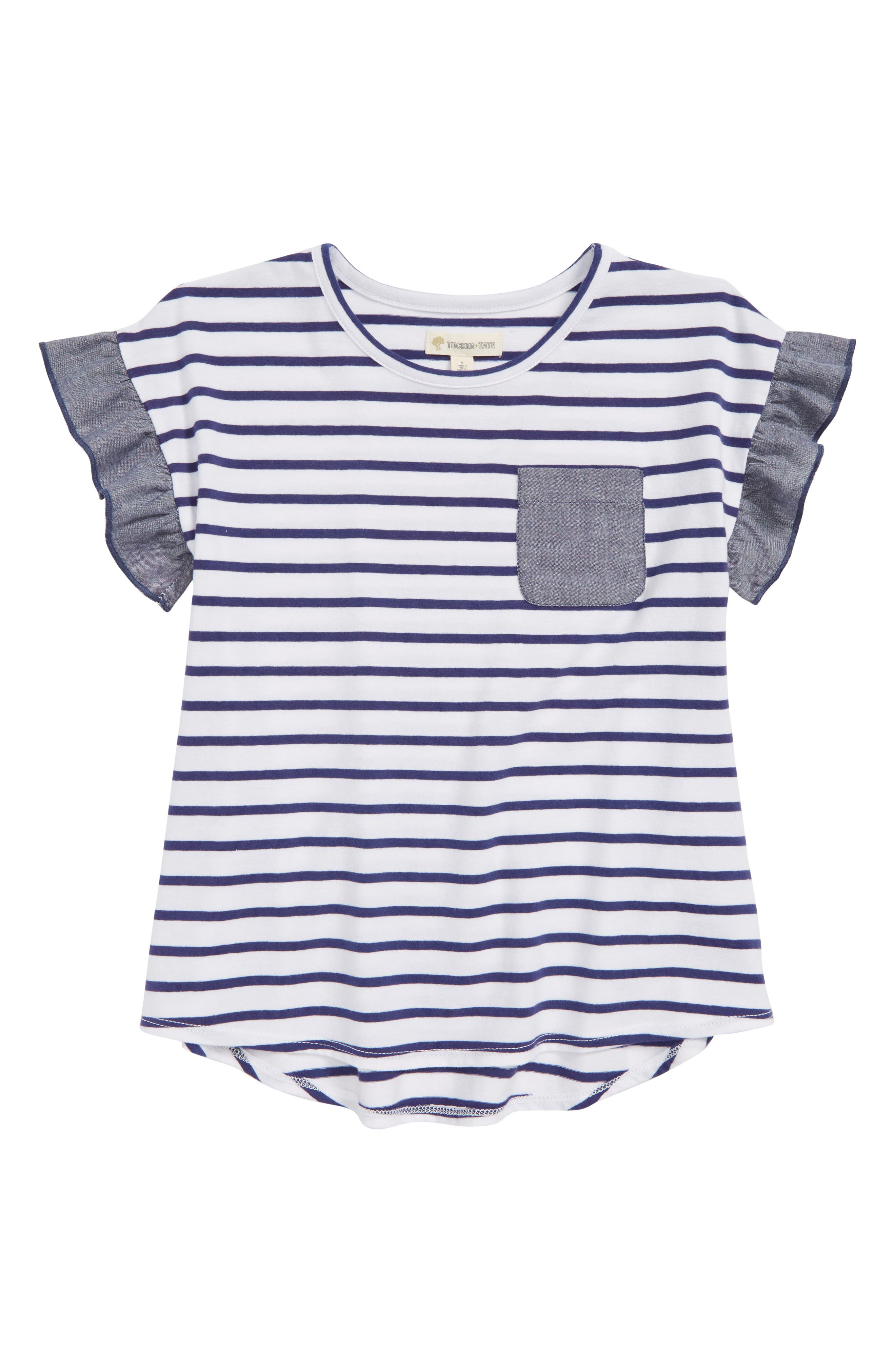 Tucker + Tate Stripe Mix Media Tee (Toddler Girls, Little Girls & Big Girls)