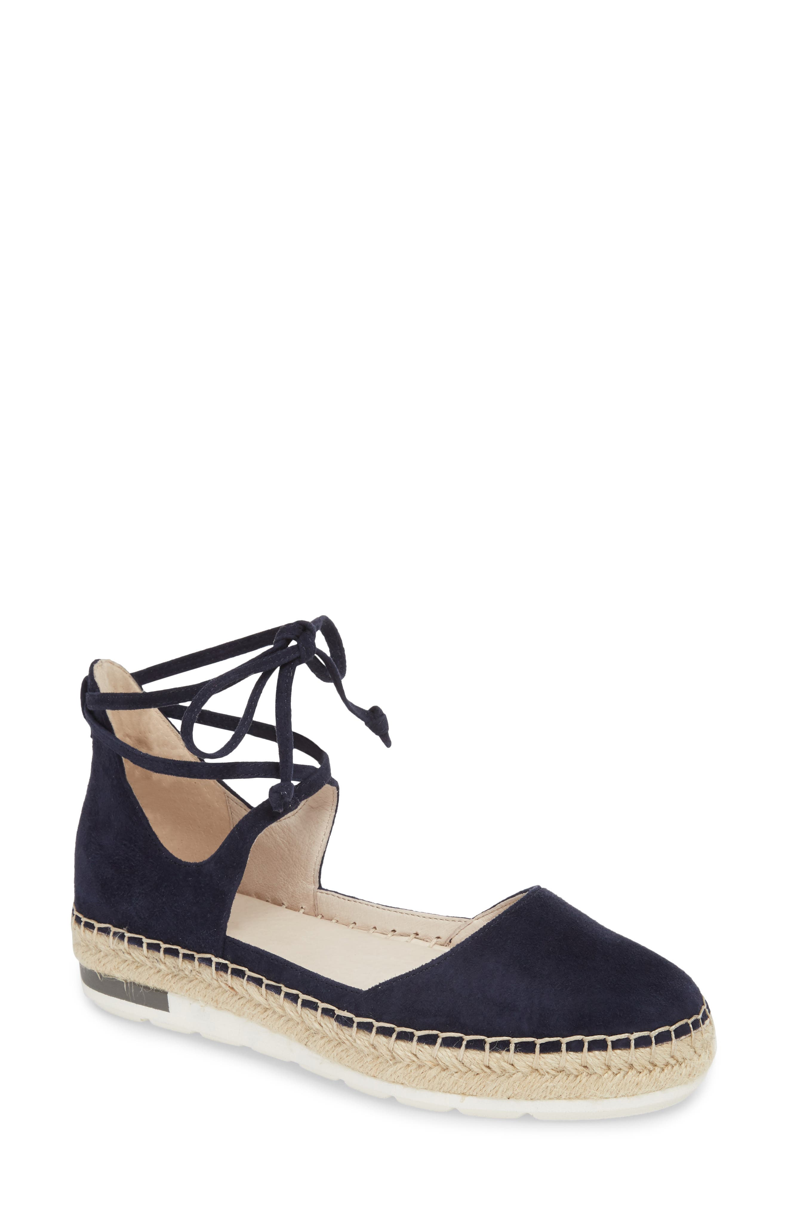 Leena Ankle Strap Sandal,                             Main thumbnail 1, color,                             Navy Suede
